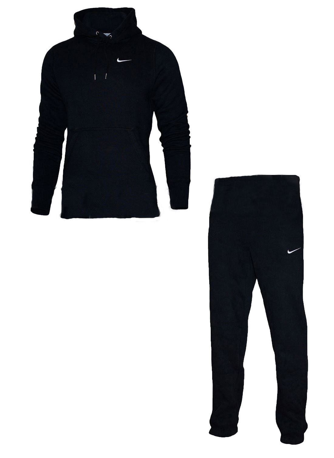 nike mens full tracksuit fleece hooded jogging bottoms joggers
