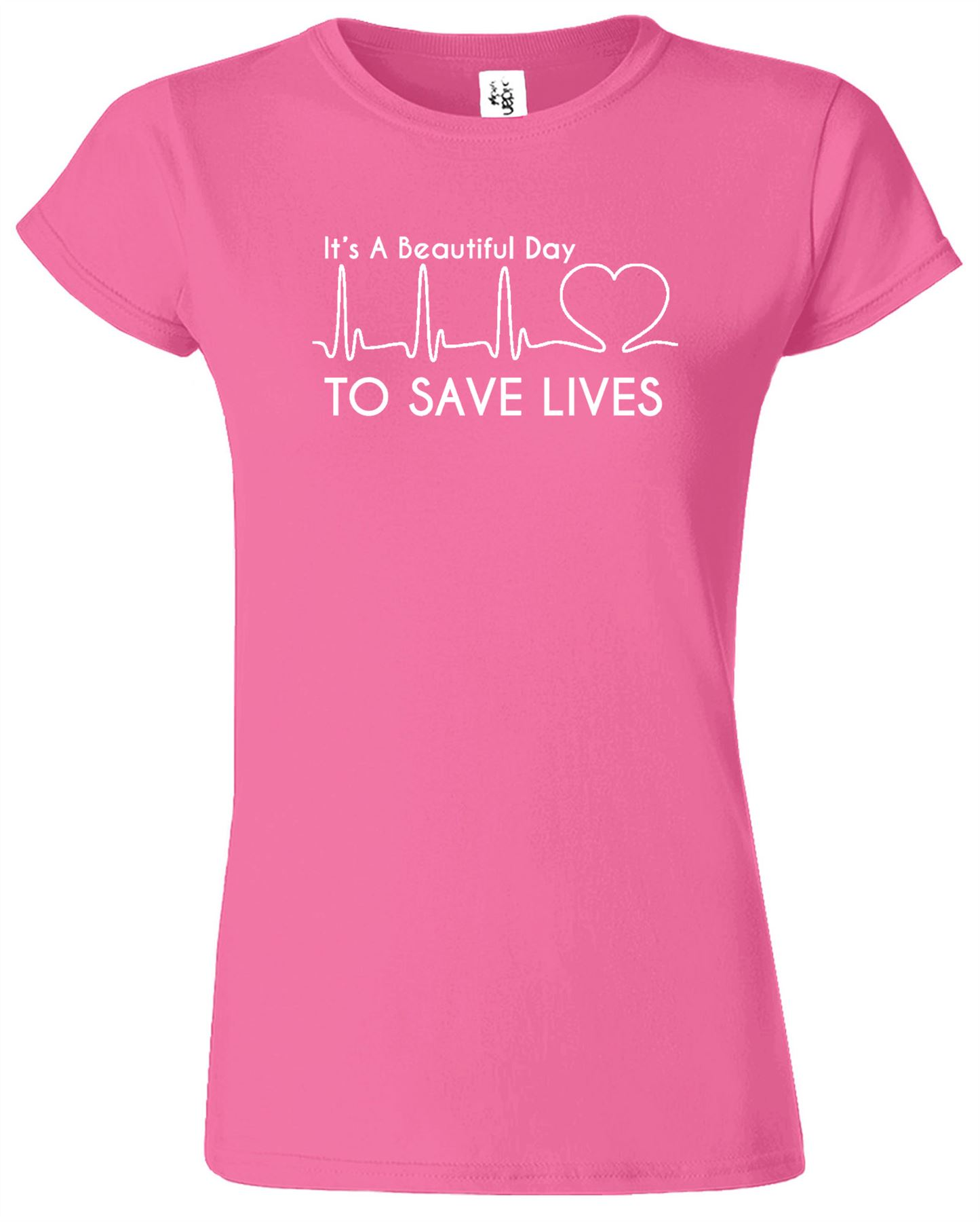 Its A Beautiful Day To Save Lives Grey\'s Anatomy Ladies Printed T ...