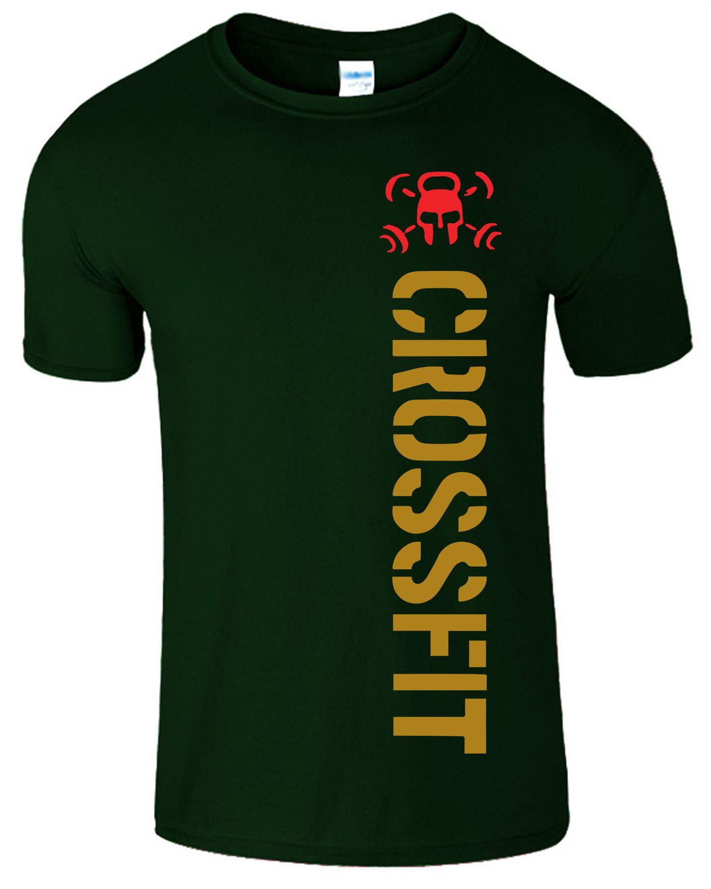 Crossfit-Mens-T-Shirt-Gym-Wear-Bodybuilding-Training-Workout-Fitness-T-Shirt Indexbild 8
