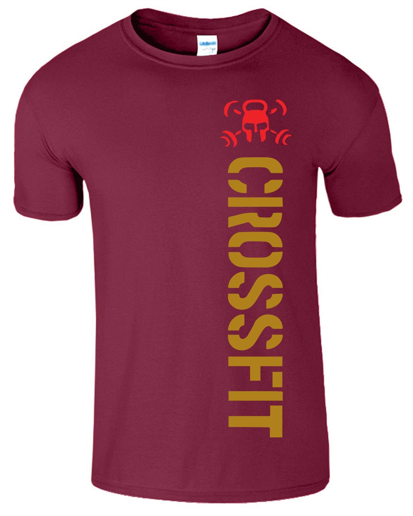 Crossfit-Mens-T-Shirt-Gym-Wear-Bodybuilding-Training-Workout-Fitness-T-Shirt Indexbild 14
