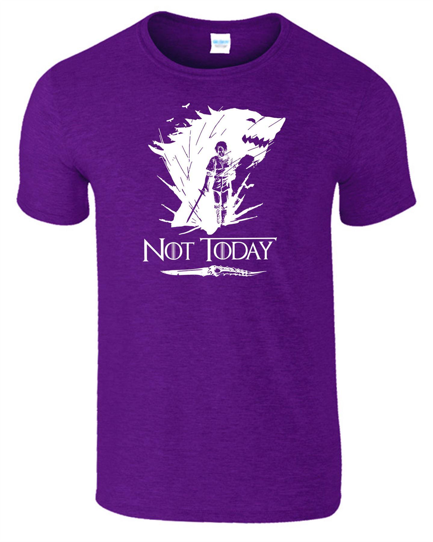 Arya-Stark-Not-Today-T-Shirt-Mens-Game-Season-Womens-Shirt-Adults-Unisex-Fit Indexbild 19