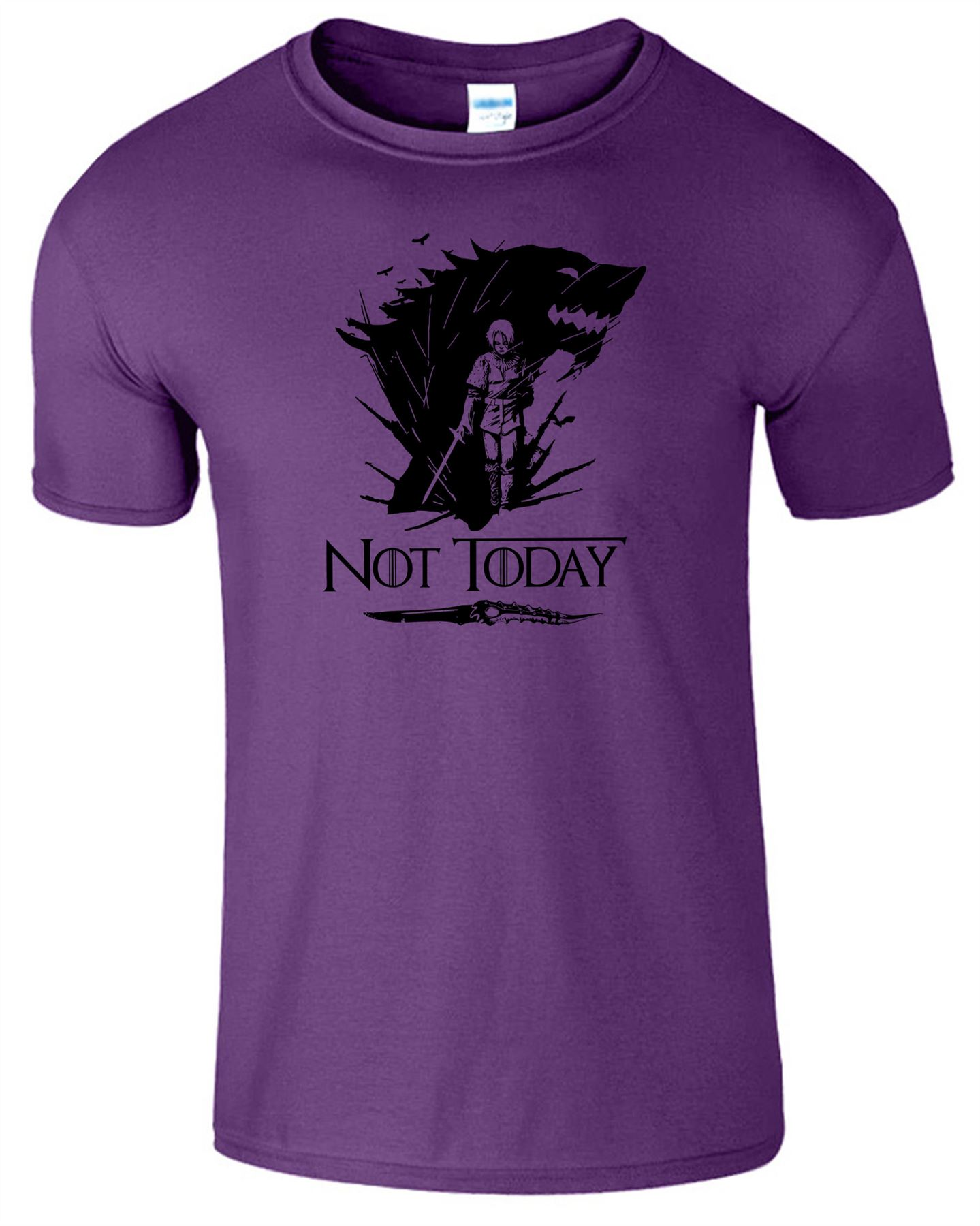 Arya-Stark-Not-Today-T-Shirt-Mens-Game-Season-Womens-Shirt-Adults-Unisex-Fit Indexbild 36