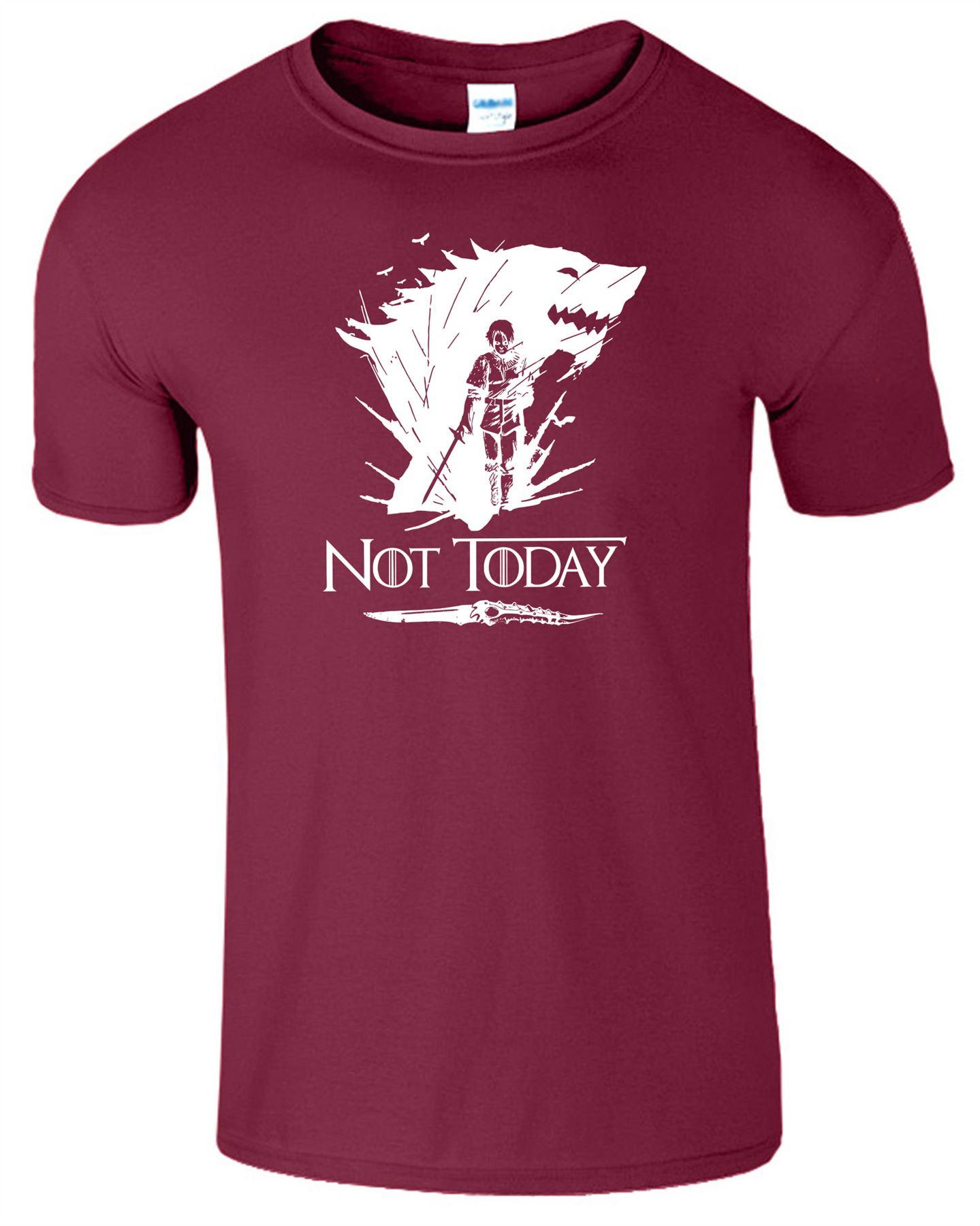 Arya-Stark-Not-Today-T-Shirt-Mens-Game-Season-Womens-Shirt-Adults-Unisex-Fit Indexbild 30
