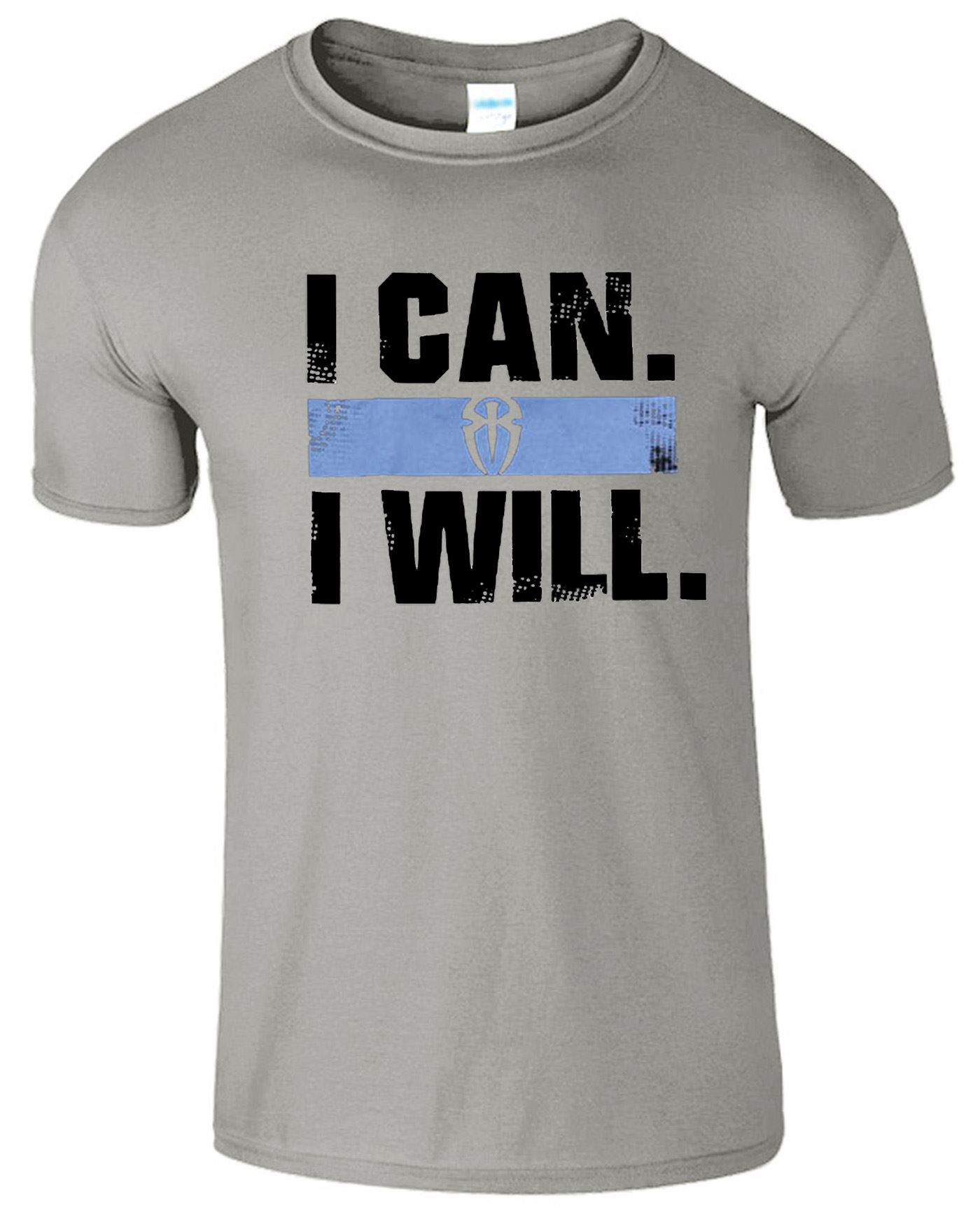 i can i will logo mens t shirt inspired roman reigns super star the
