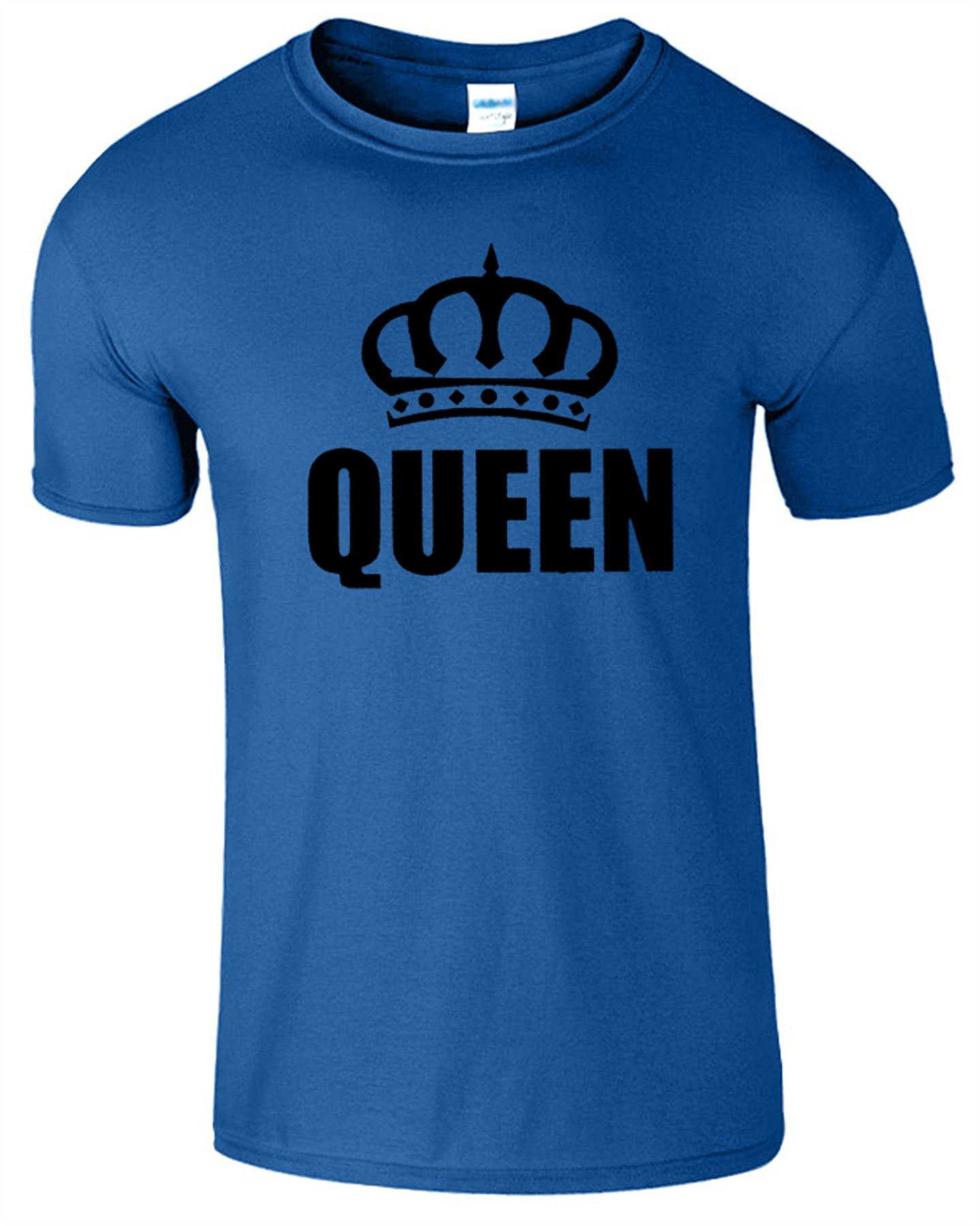 King And Queen T Shirt Mens Womens Crown Logo Romantic Couple Top Tee T-Shirt w