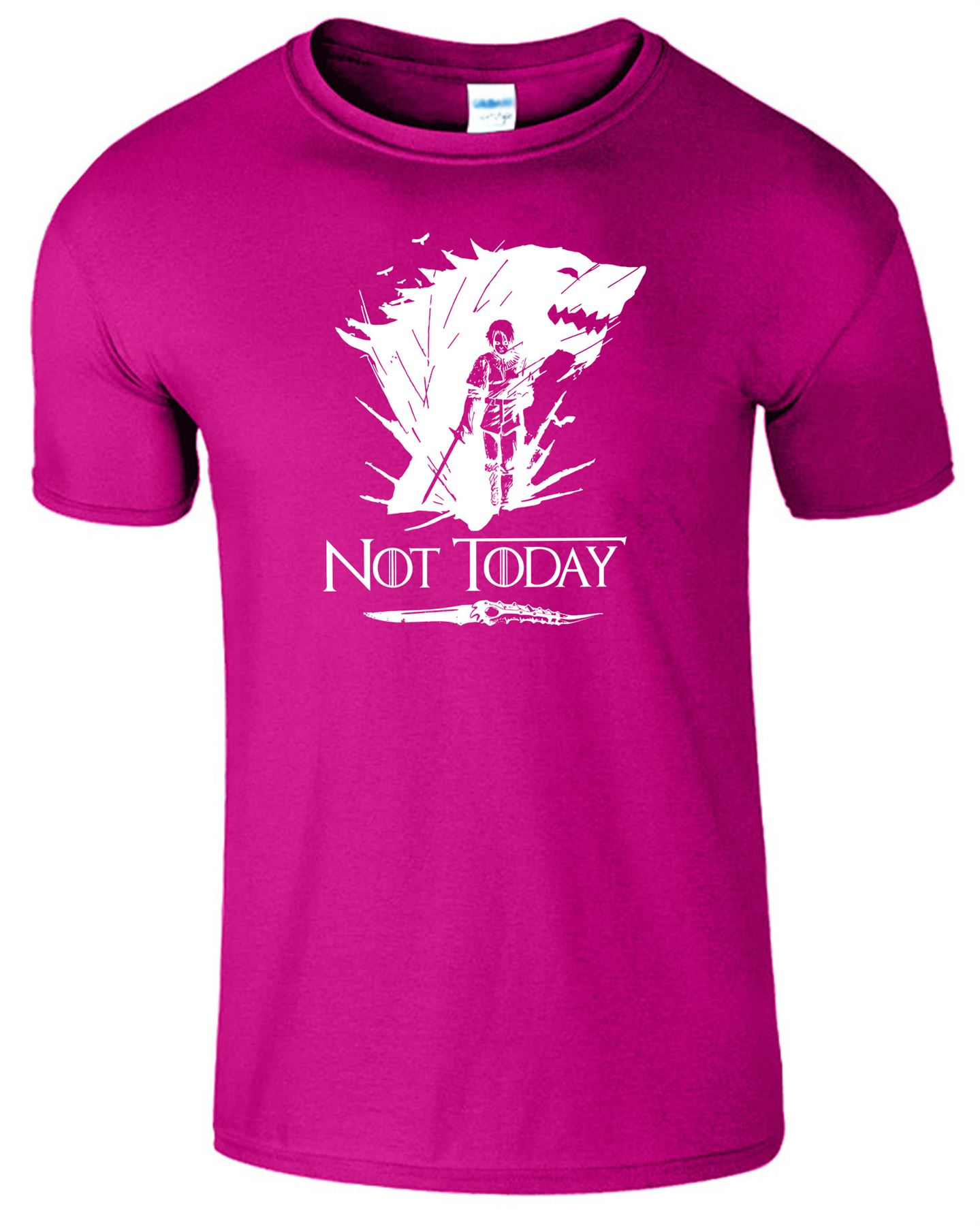 Arya Stark Not Today T-Shirt Mens Game Season Womens Shirt Adults Unisex Fit