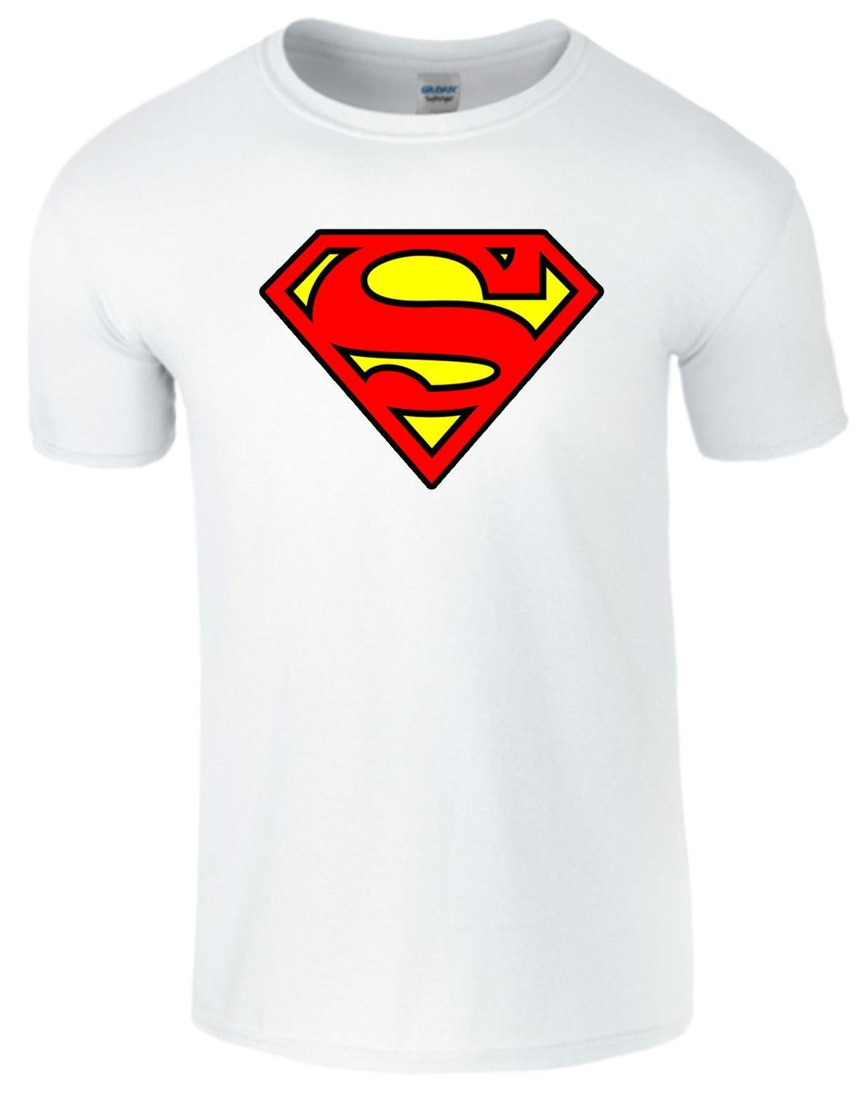 Superman-homme-unisexe-t-shirt-super-heros-logo-imprime-a-manches-courtes-top-t-shirt