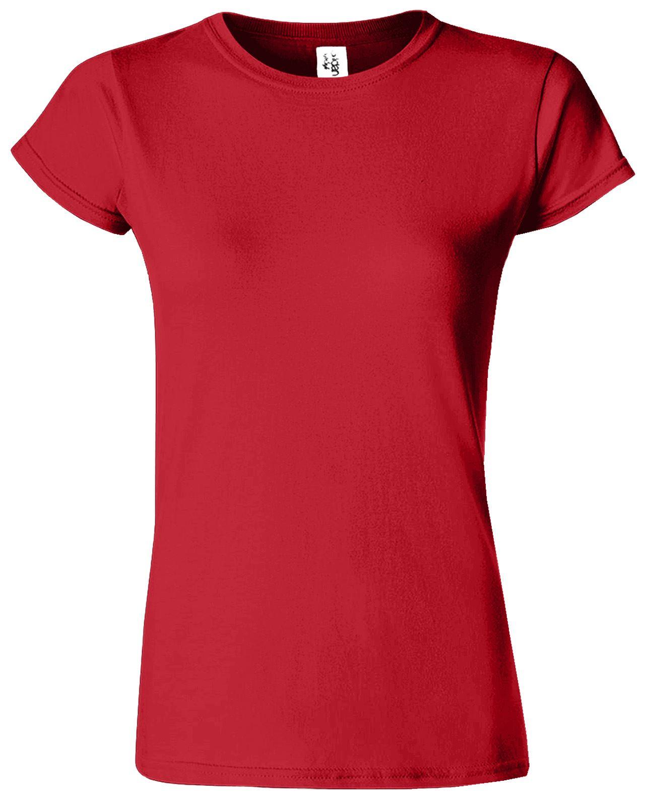 gildan blank softstyle ladies t shirt skinny fit top