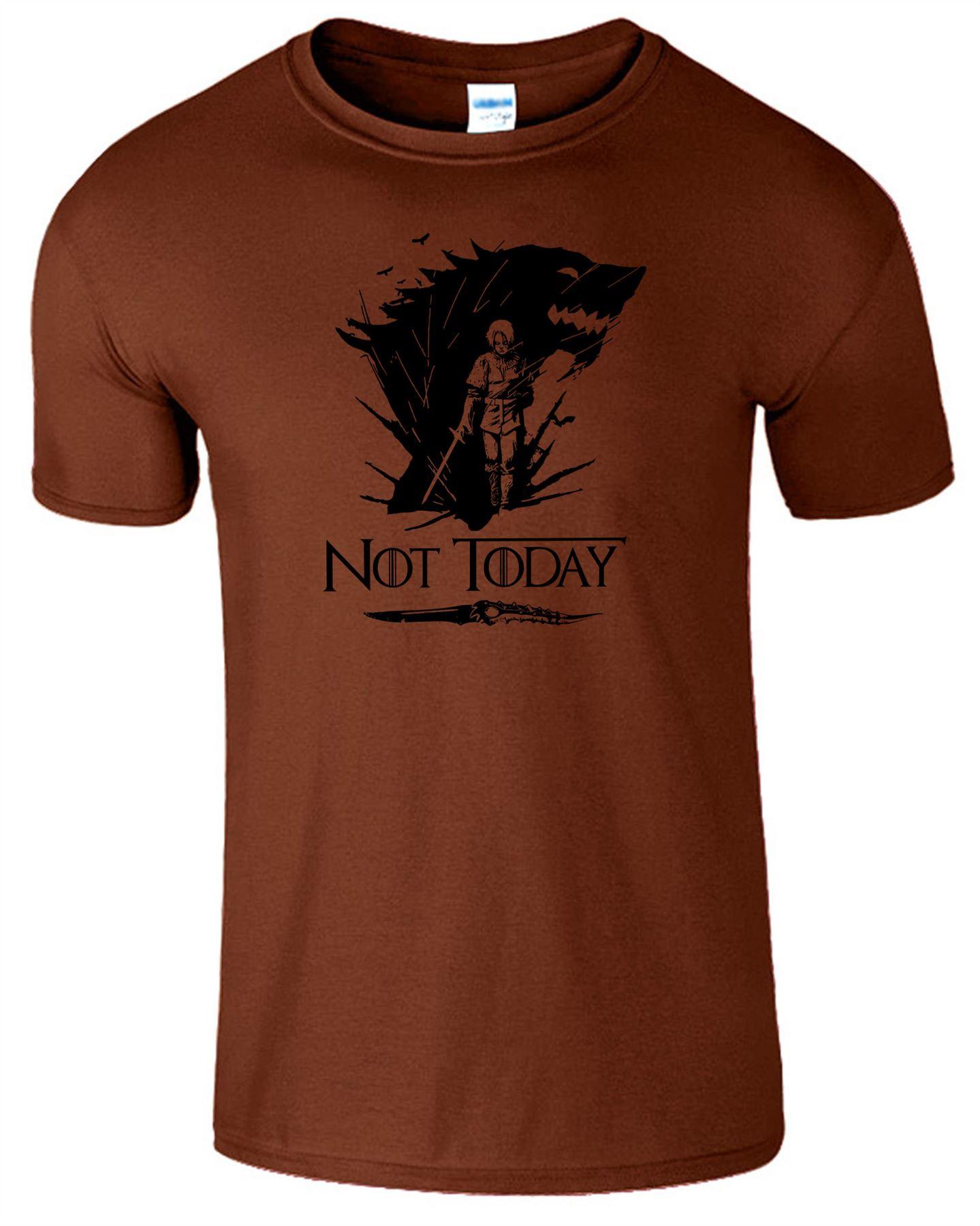 Arya-Stark-Not-Today-T-Shirt-Mens-Game-Season-Womens-Shirt-Adults-Unisex-Fit Indexbild 7