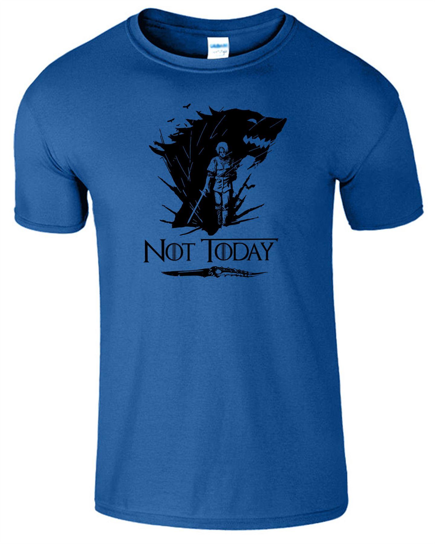 Arya-Stark-Not-Today-T-Shirt-Mens-Game-Season-Womens-Shirt-Adults-Unisex-Fit Indexbild 40