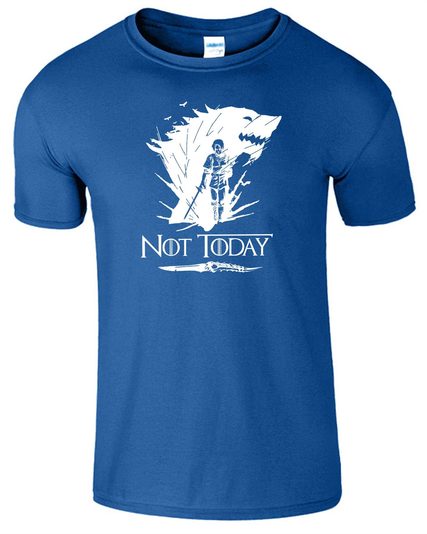 Arya-Stark-Not-Today-T-Shirt-Mens-Game-Season-Womens-Shirt-Adults-Unisex-Fit Indexbild 41