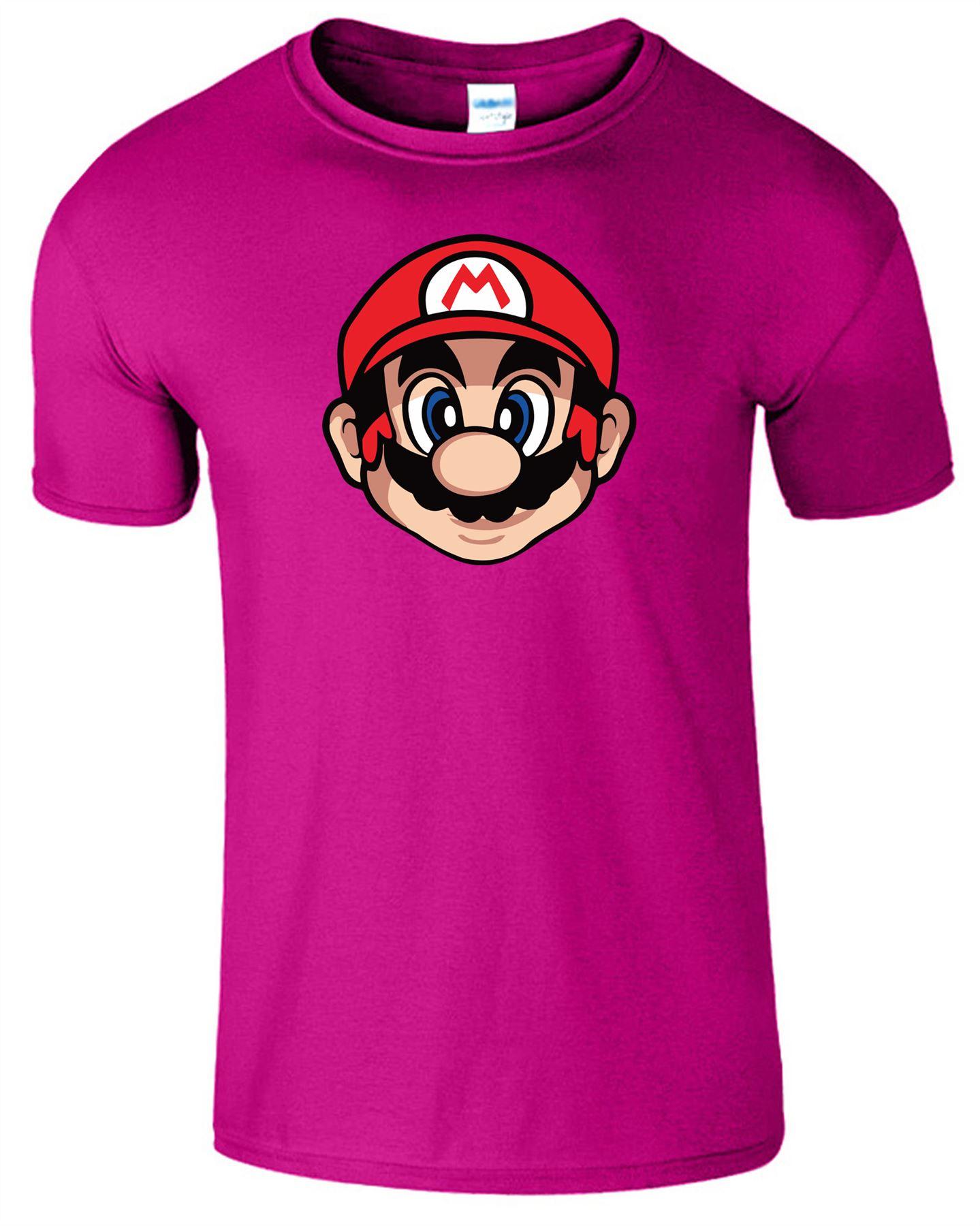Super-Mario-Enfants-T-Shirt-Gaming-Retro-Luigi-PS4-PC-Jeu-Cadeau-Top-T-Shirt