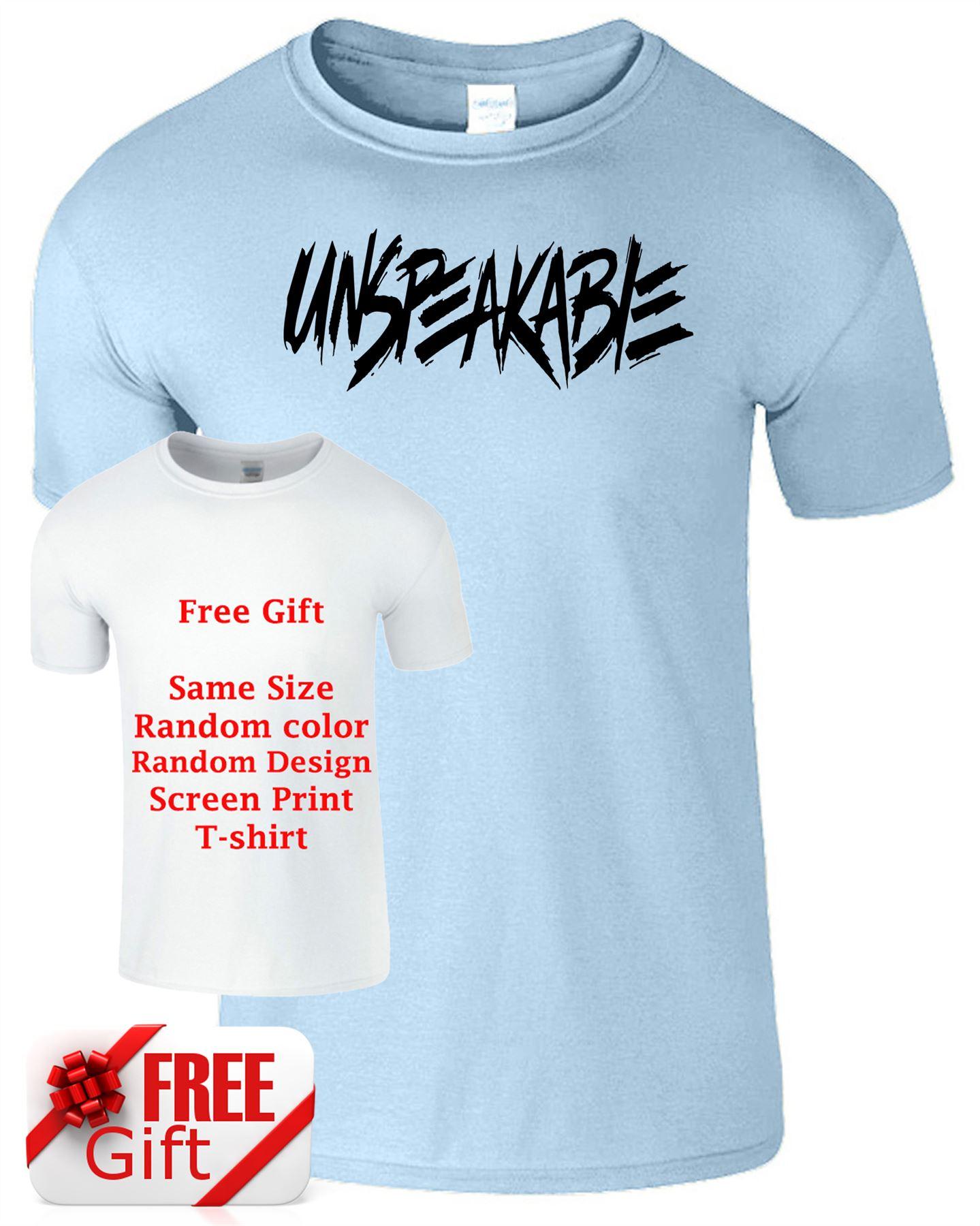Unspeakable Mens Kids T-Shirt Youtube Gaming Youtuber Vlog
