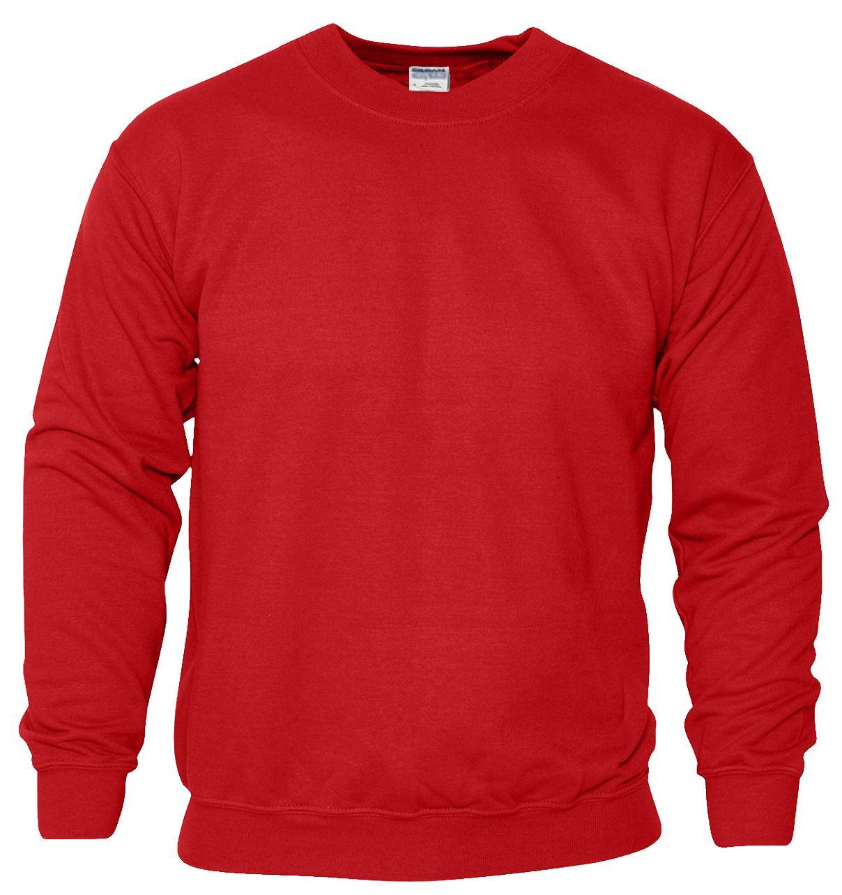 New Gildan Plain Sweatshirt Cotton Heavy Blend Crew Neck ...