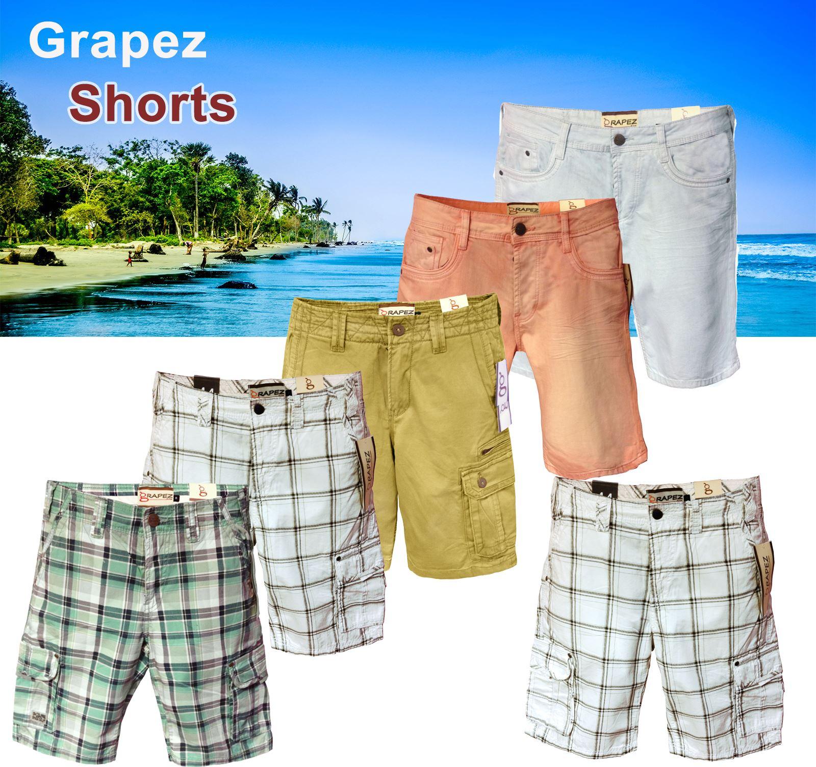 Denim Summer Mens Cargo Sports Swimming Pocket Work Shorts Casual Pants Trouser