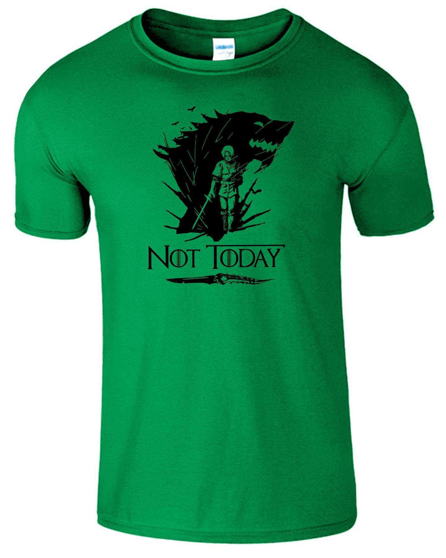 Arya-Stark-Not-Today-T-Shirt-Mens-Game-Season-Womens-Shirt-Adults-Unisex-Fit Indexbild 23