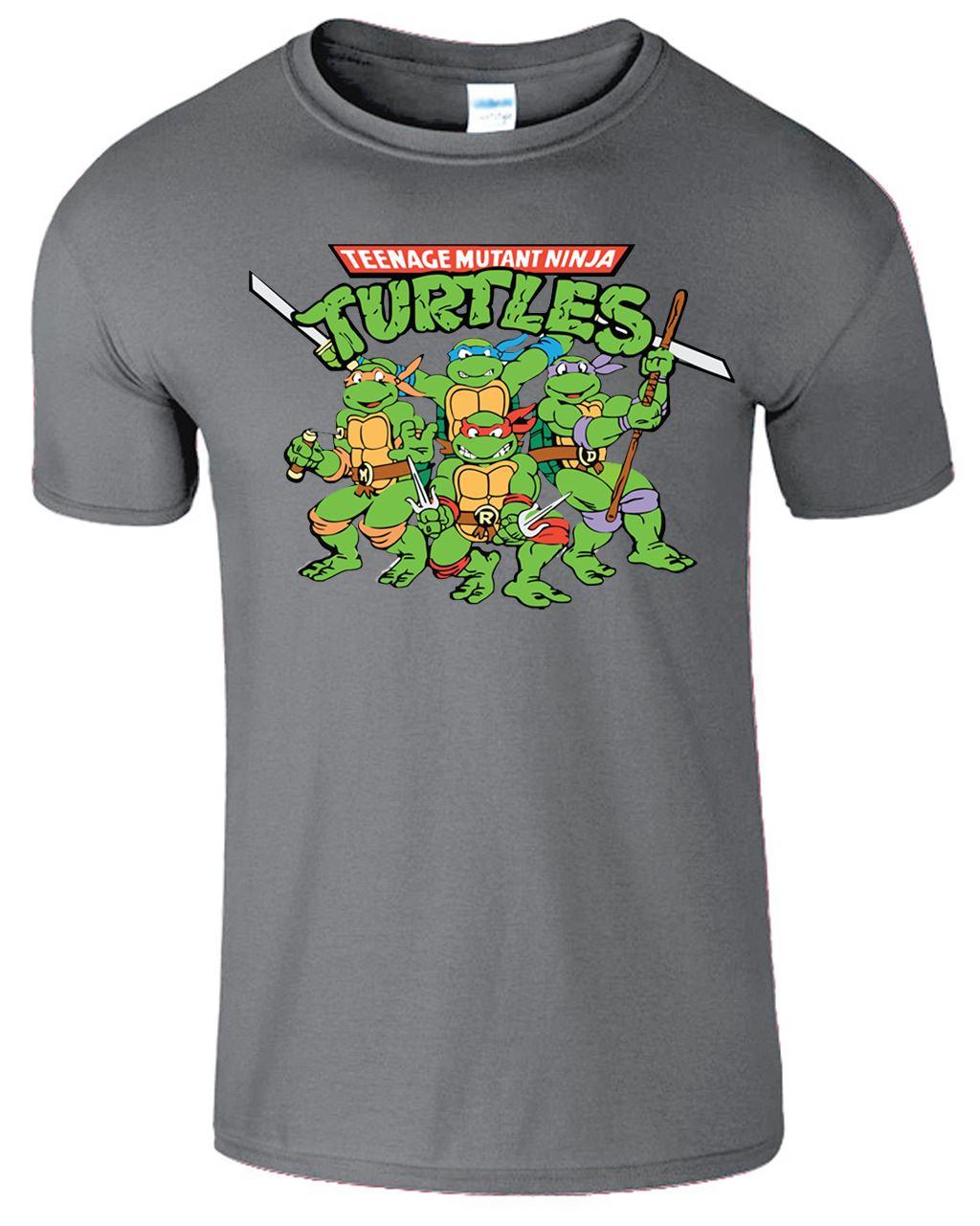 Teenage mutant ninja turtles mens t shirt tmnt retro for Turtle shirts for men