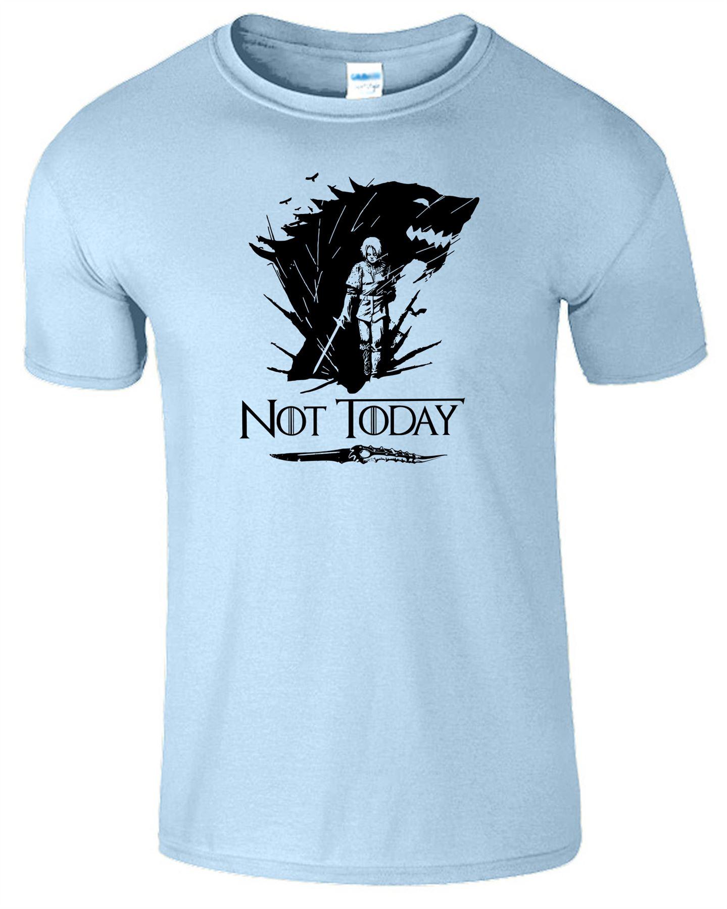 Arya-Stark-Not-Today-T-Shirt-Mens-Game-Season-Womens-Shirt-Adults-Unisex-Fit Indexbild 27