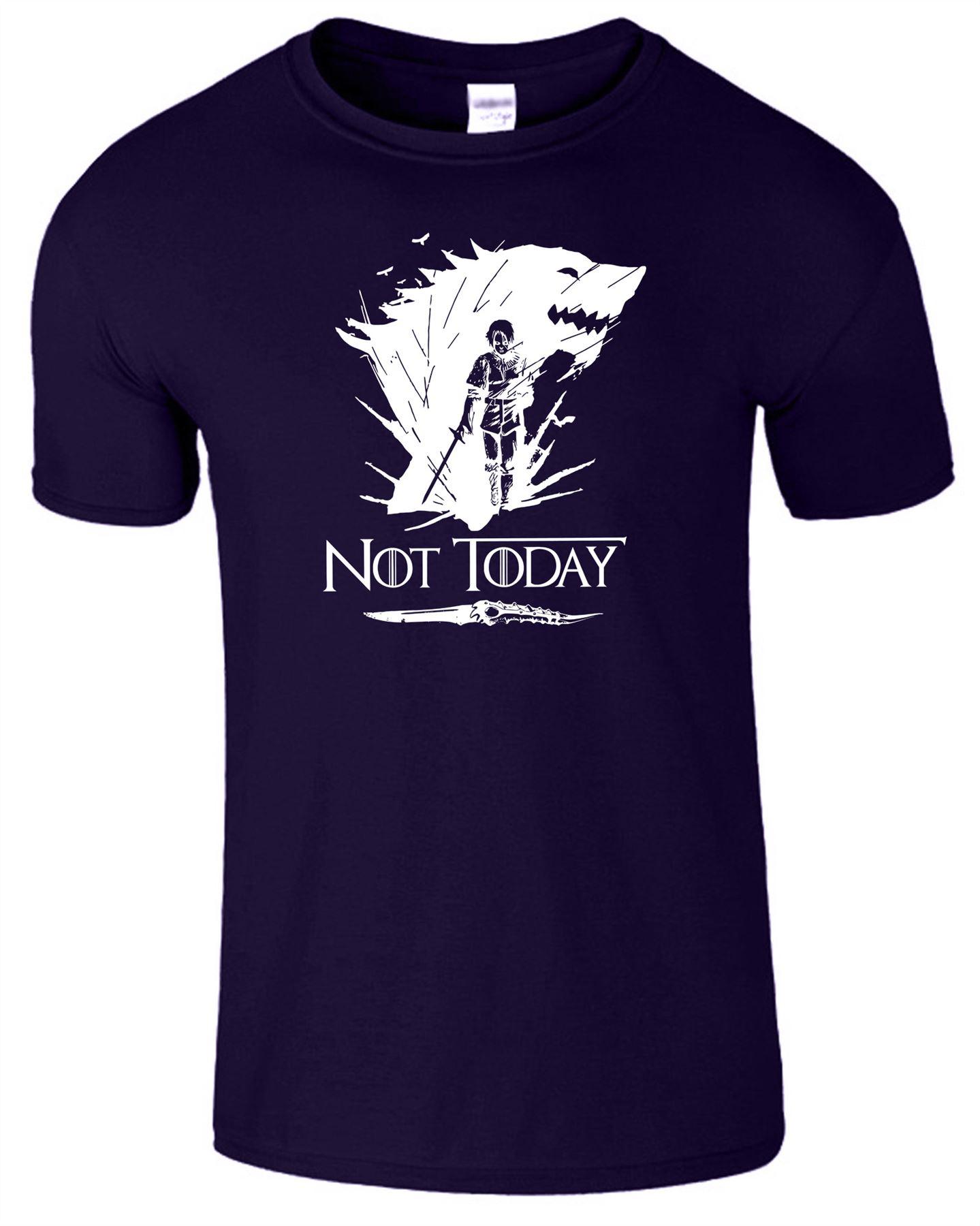 Arya-Stark-Not-Today-T-Shirt-Mens-Game-Season-Womens-Shirt-Adults-Unisex-Fit Indexbild 3