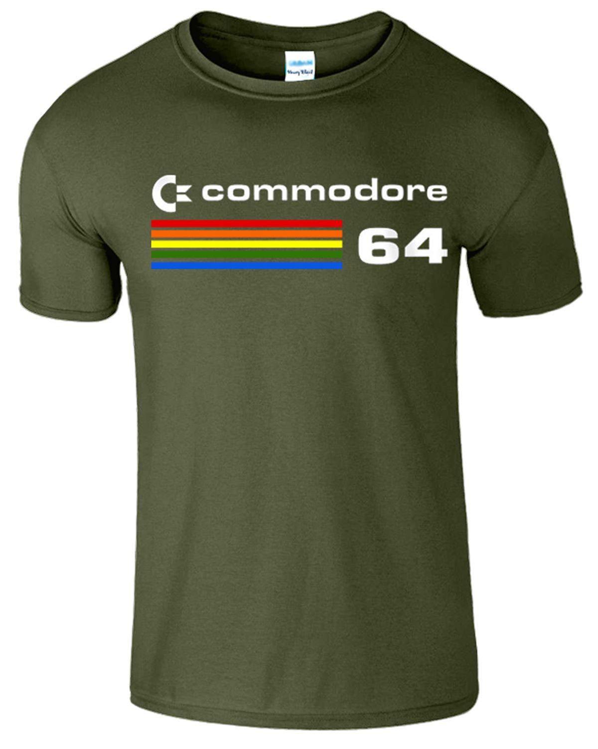 Commodore-64-Mens-T-Shirt-Computer-C64-Retro-80s-Video-Game-PC-Tee-Top-T-Shirt