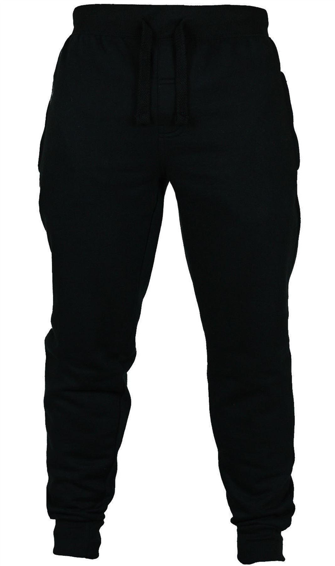 Open Hem Amp Close Hem Mens Plain Pants Fleece Elastic