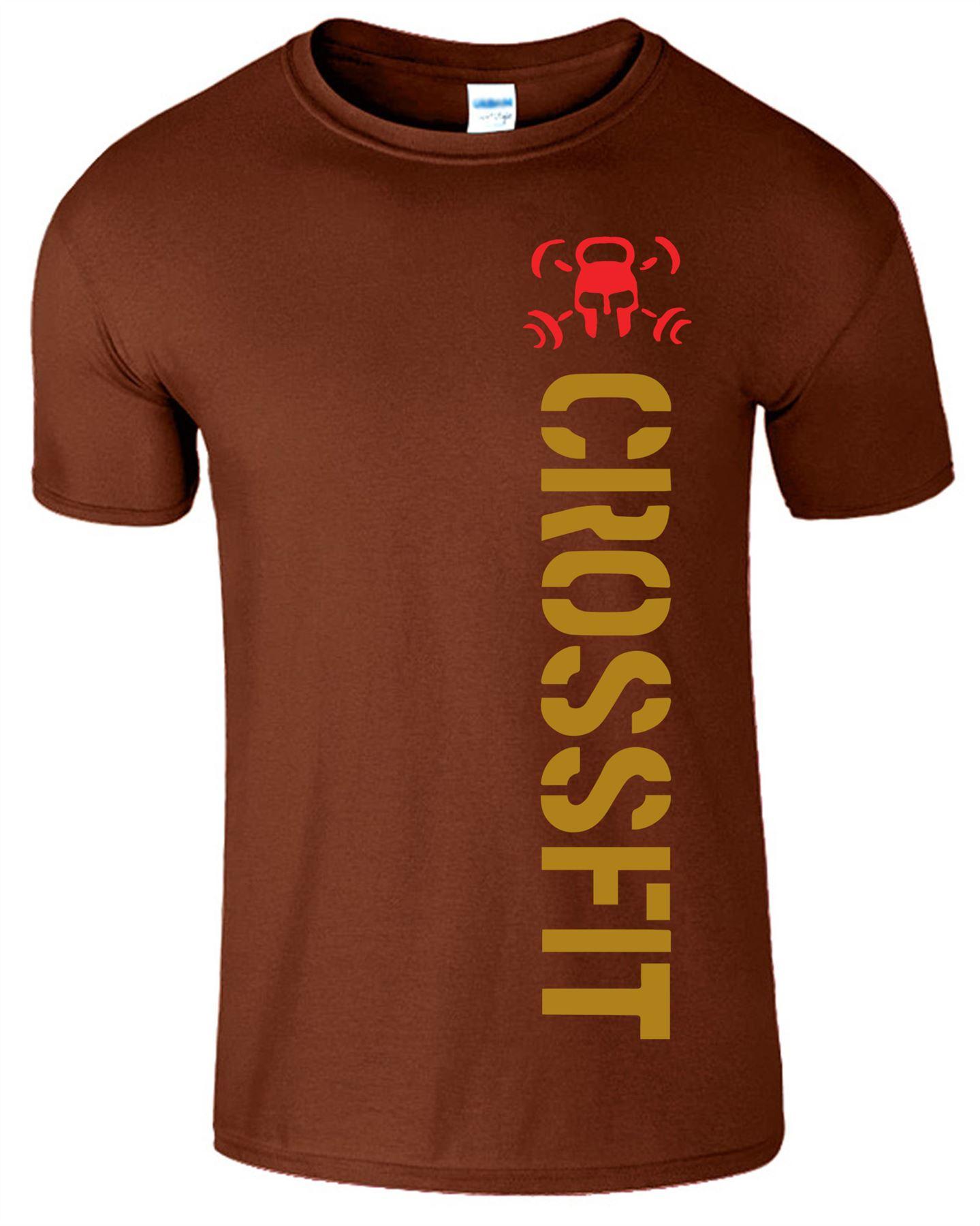 Crossfit-Mens-T-Shirt-Gym-Wear-Bodybuilding-Training-Workout-Fitness-T-Shirt Indexbild 4