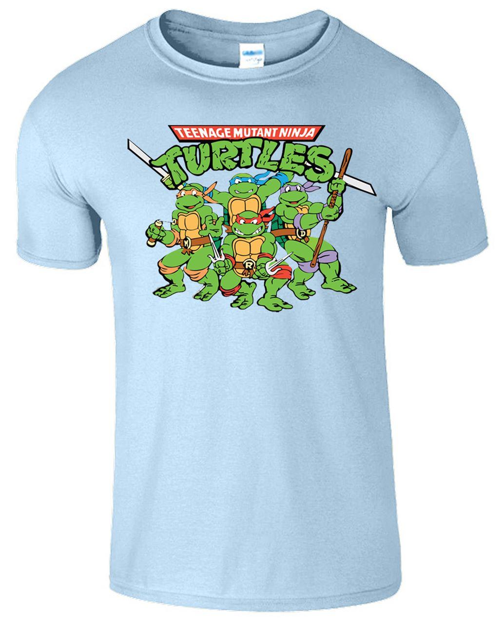 Teenage mutant ninja turtles mens t shirt tmnt retro 90 39 s for Turtle shirts for men