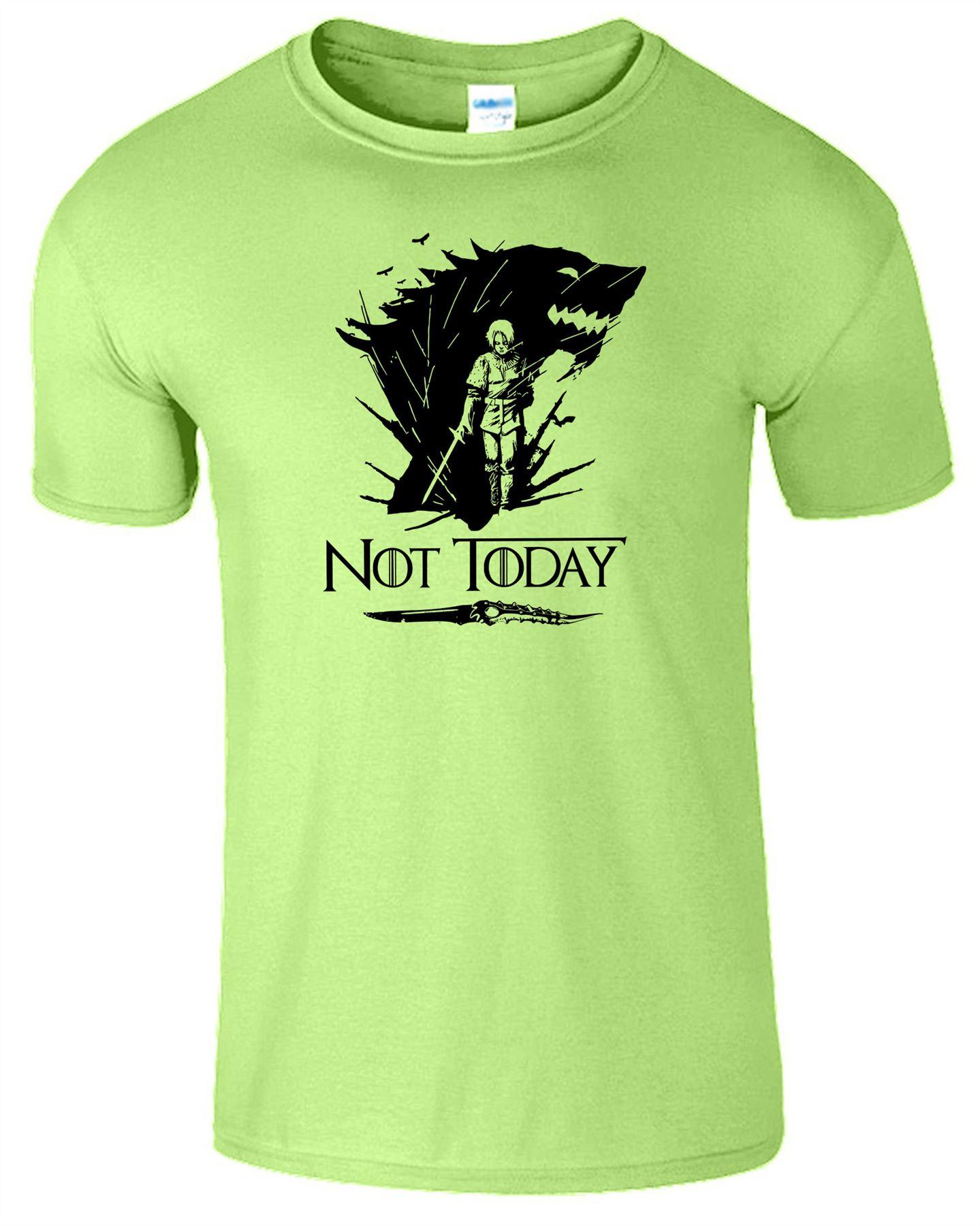 Arya-Stark-Not-Today-T-Shirt-Mens-Game-Season-Womens-Shirt-Adults-Unisex-Fit Indexbild 32