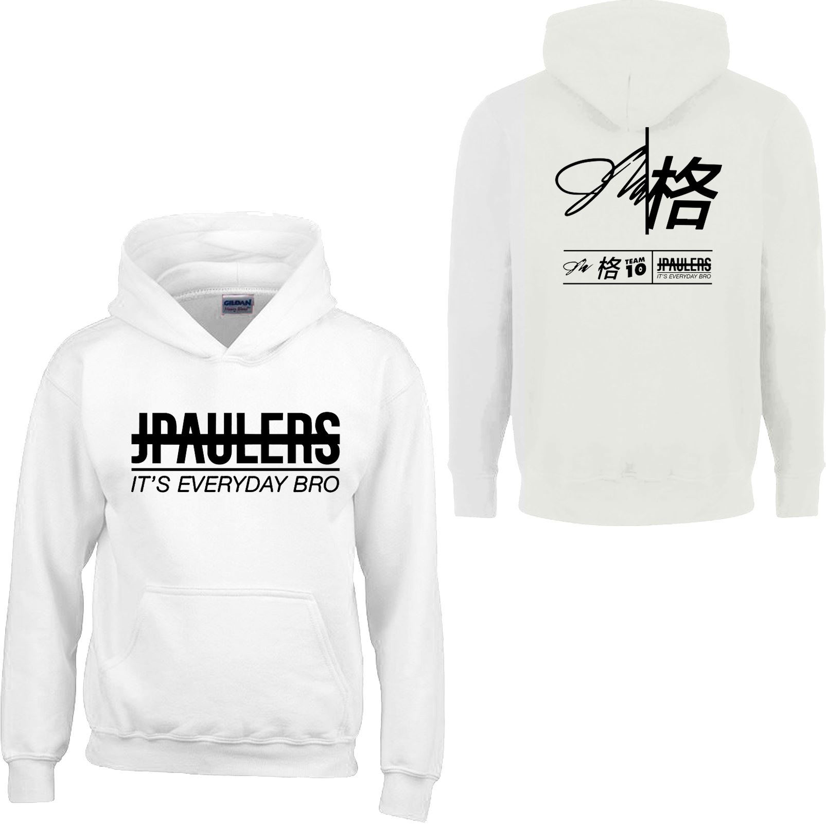 JPAULERS ITS EVERYDAY BRO Hoodie Kids Boys Gilrs Savage Youtuber Pullover Hooded