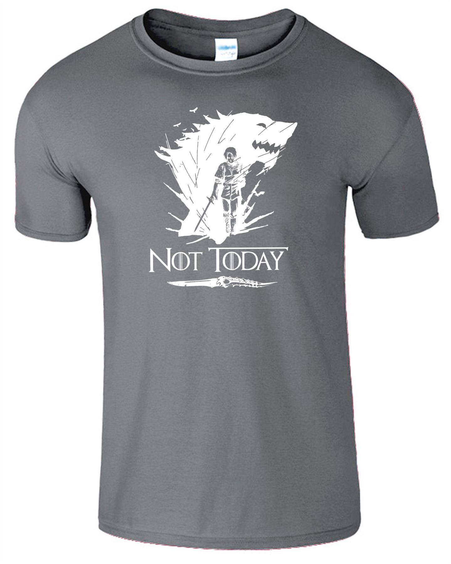 Arya-Stark-Not-Today-T-Shirt-Mens-Game-Season-Womens-Shirt-Adults-Unisex-Fit Indexbild 4