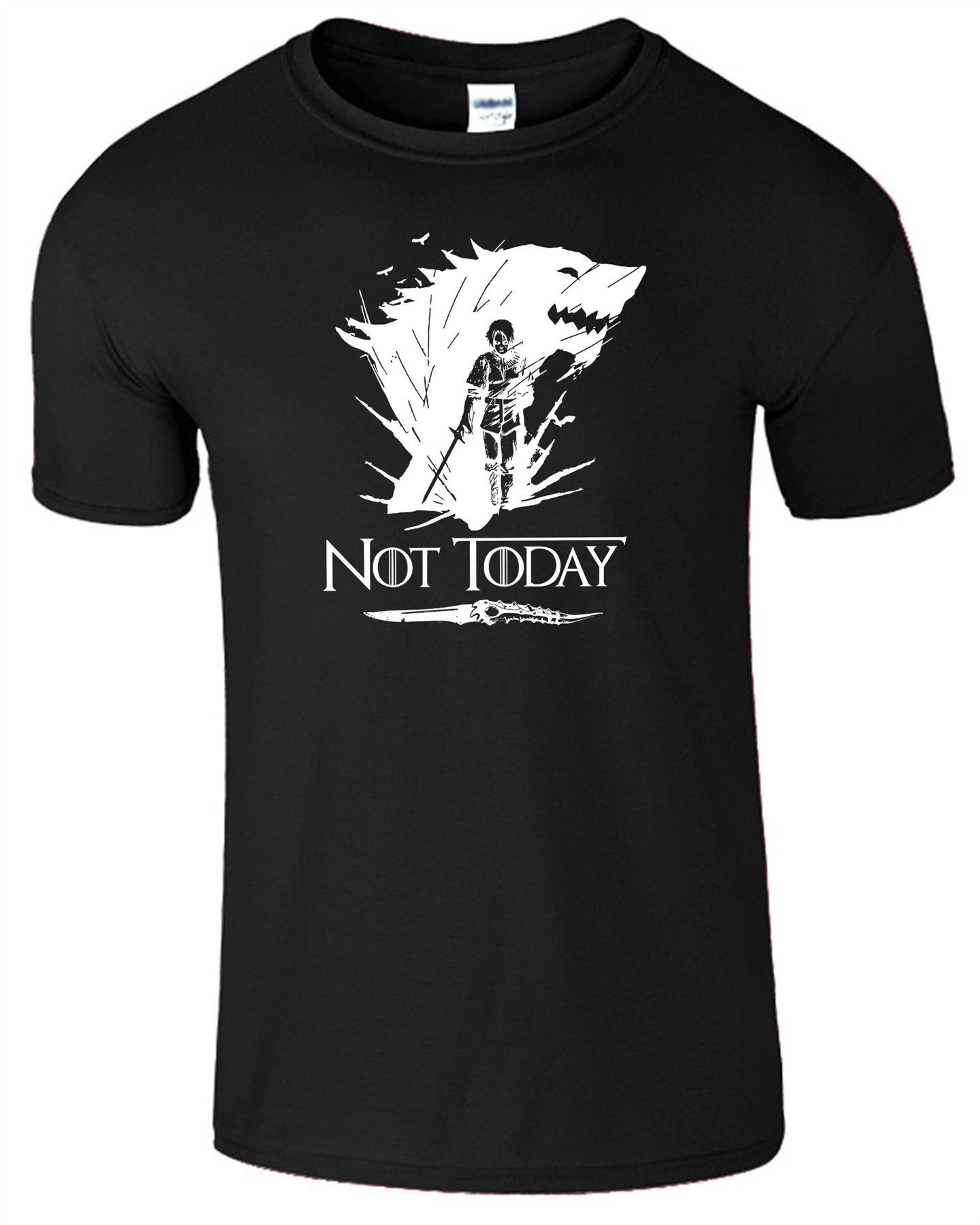 Arya-Stark-Not-Today-T-Shirt-Mens-Game-Season-Womens-Shirt-Adults-Unisex-Fit Indexbild 2