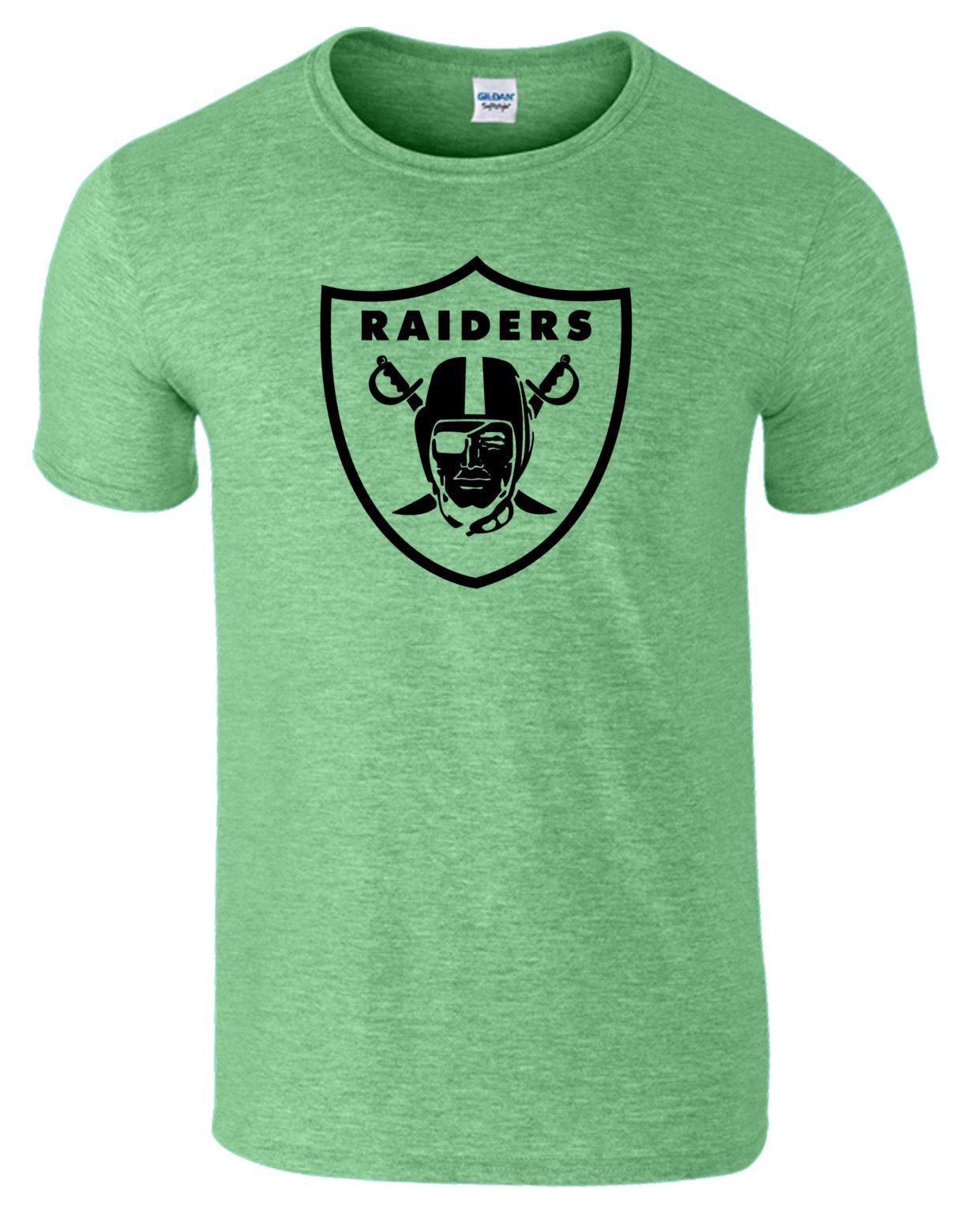 Oakland raiders mens funny t shirt printed usa nfl tshirt for T shirt printing usa