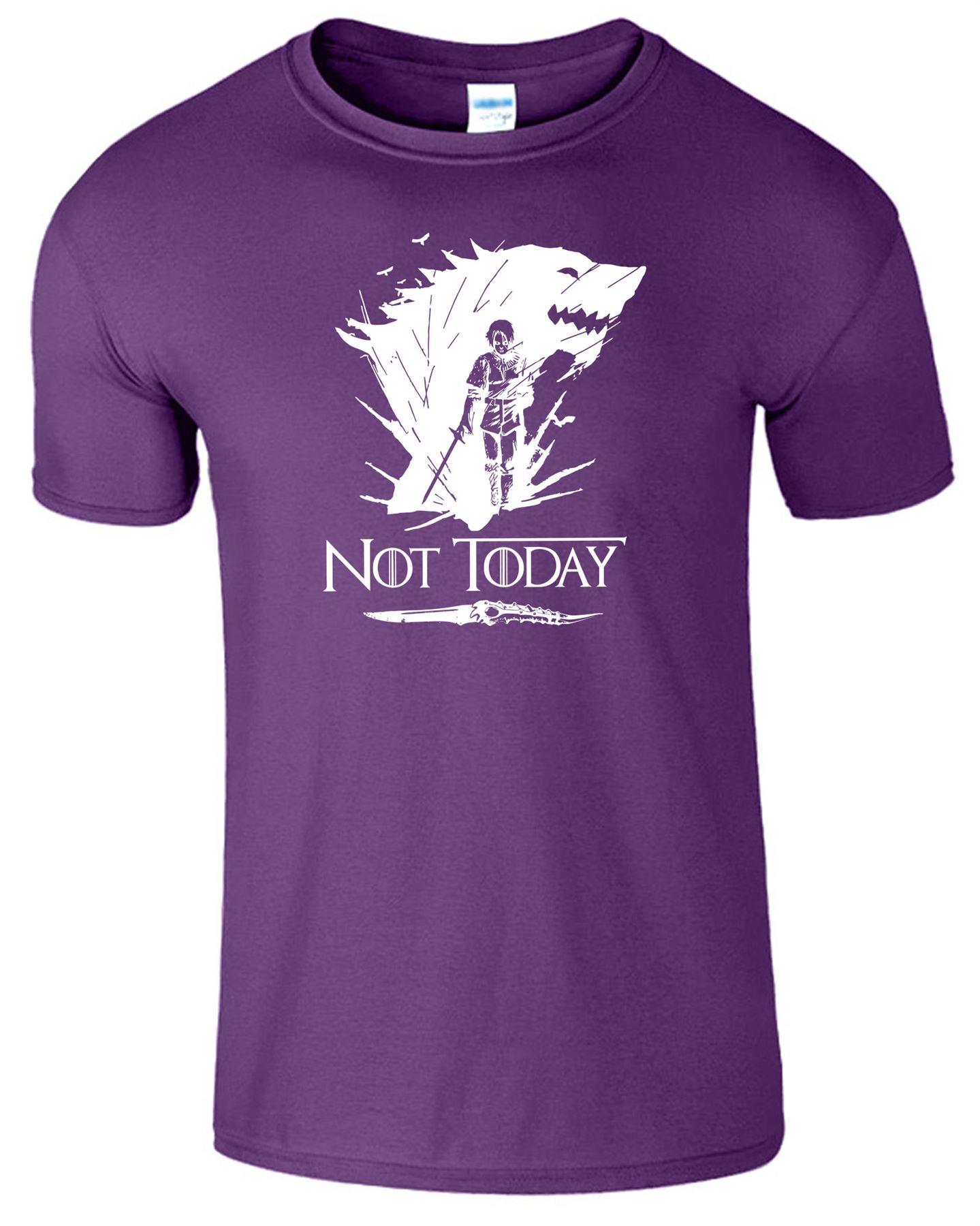 Arya-Stark-Not-Today-T-Shirt-Mens-Game-Season-Womens-Shirt-Adults-Unisex-Fit Indexbild 37