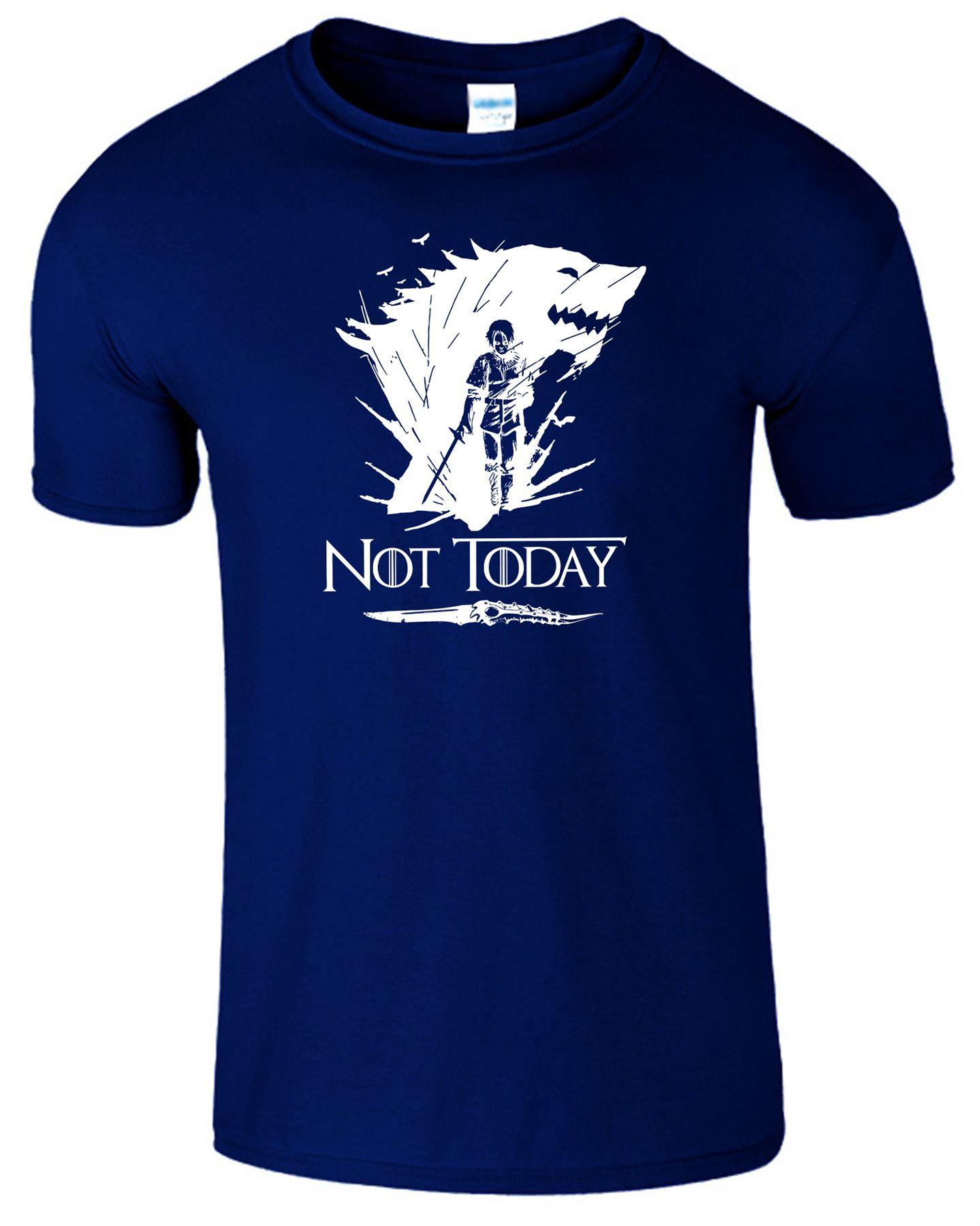 Arya-Stark-Not-Today-T-Shirt-Mens-Game-Season-Womens-Shirt-Adults-Unisex-Fit Indexbild 33