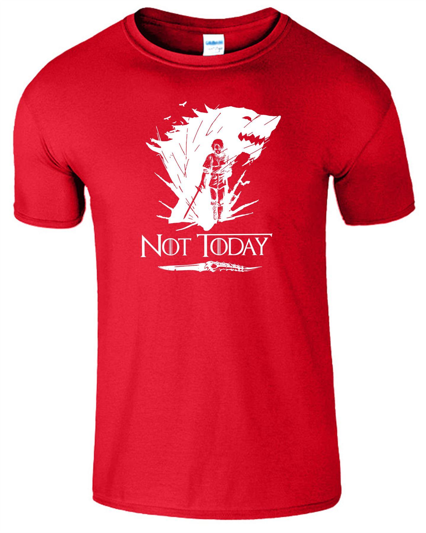 Arya-Stark-Not-Today-T-Shirt-Mens-Game-Season-Womens-Shirt-Adults-Unisex-Fit Indexbild 39