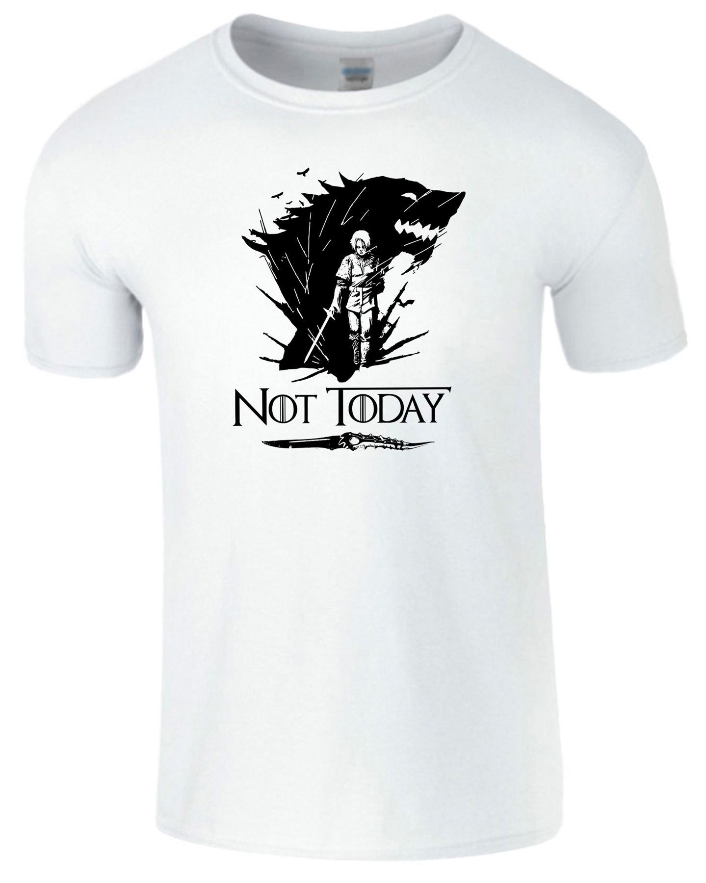 Arya-Stark-Not-Today-T-Shirt-Mens-Game-Season-Womens-Shirt-Adults-Unisex-Fit Indexbild 46