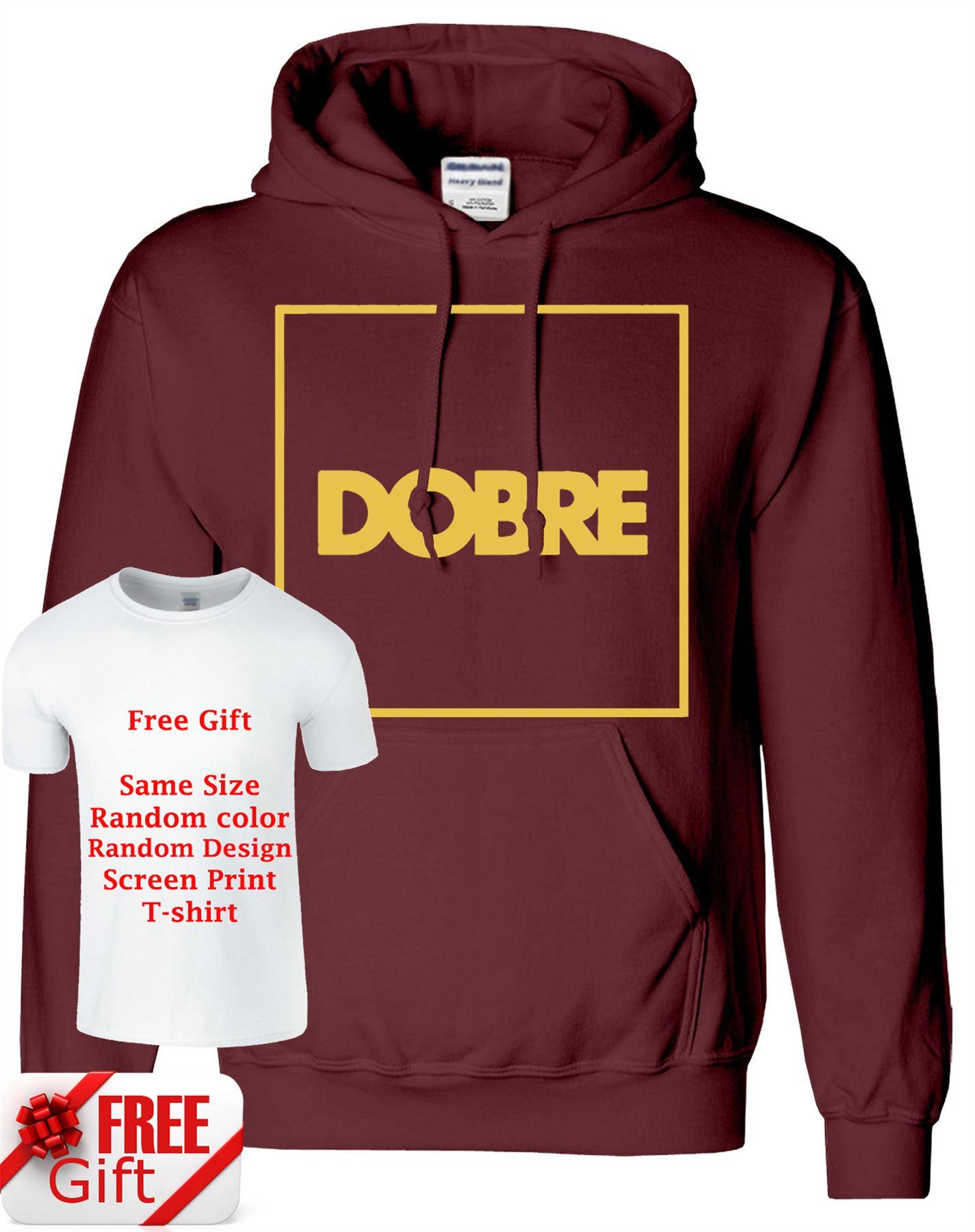 Uomo-e-Donna-dobrebrothers-Felpa-con-cappuccio-Pullover-swerater-gratuito-T-Shirt-Stampata