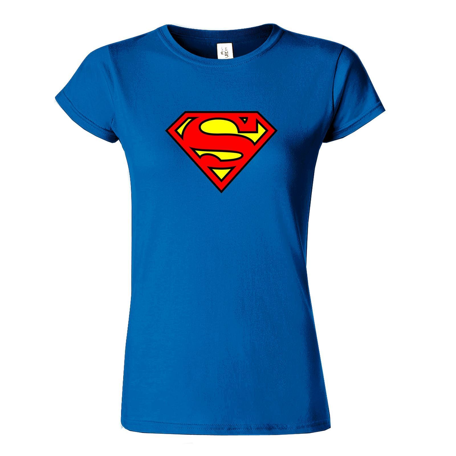Superman-Women-Laides-Casual-Wear-Present-Fitted-Top-T-shirt