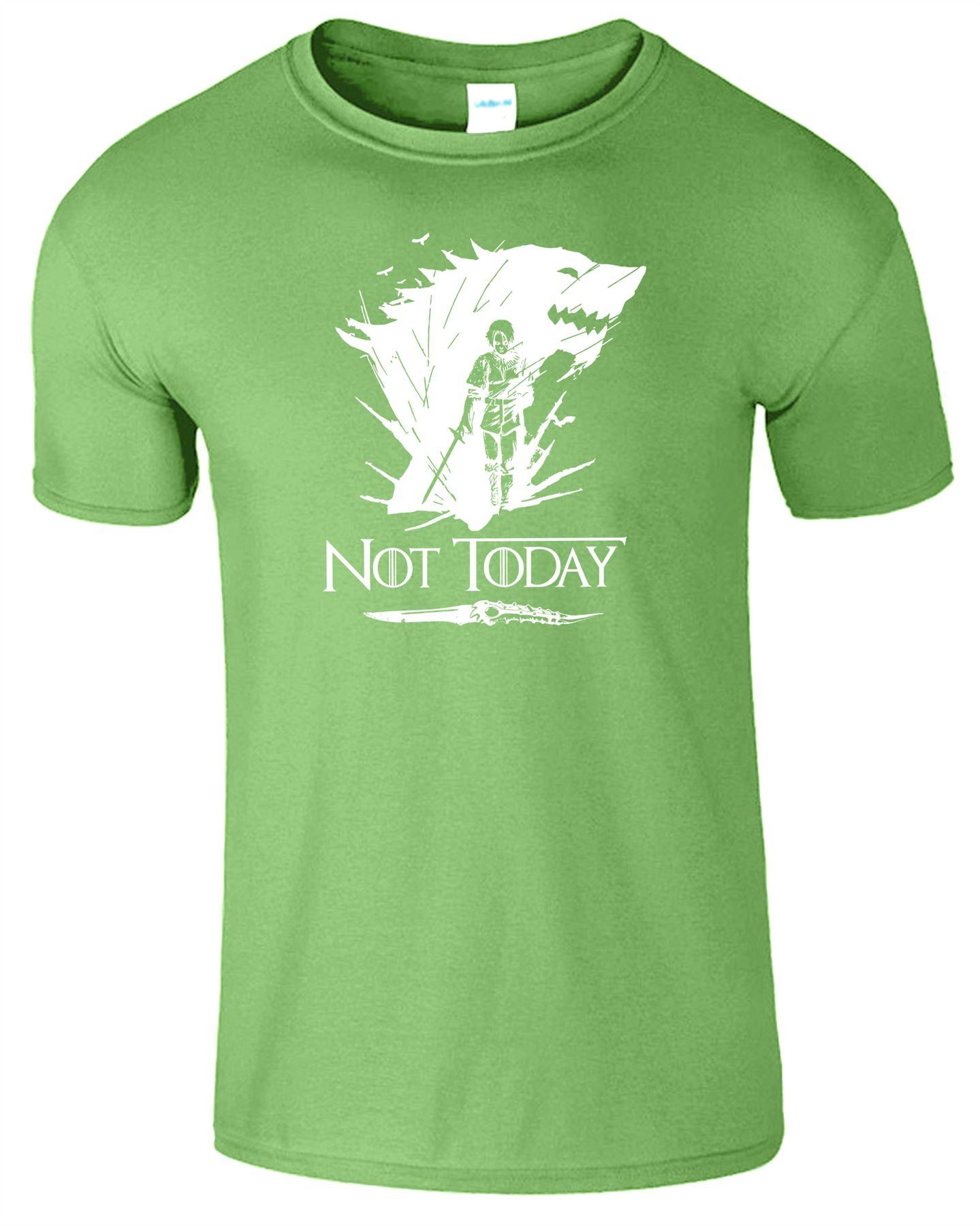 Arya-Stark-Not-Today-T-Shirt-Mens-Game-Season-Womens-Shirt-Adults-Unisex-Fit Indexbild 29