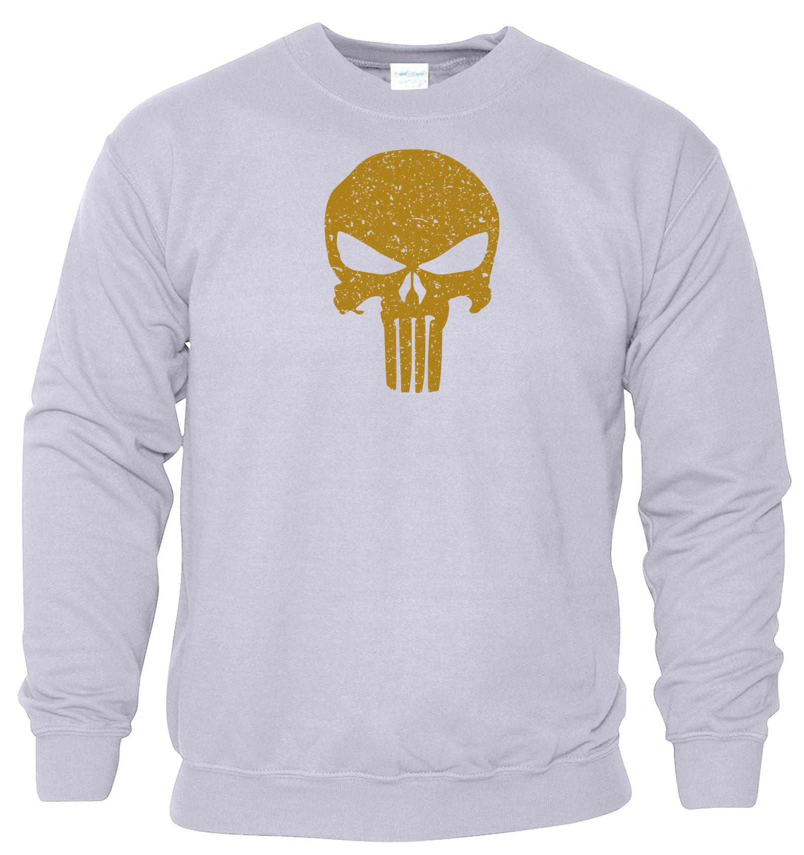 Punisher Skull Mens Gym MA Sweat Muscle Workout Fitness Sweatshirt Bodybuilding