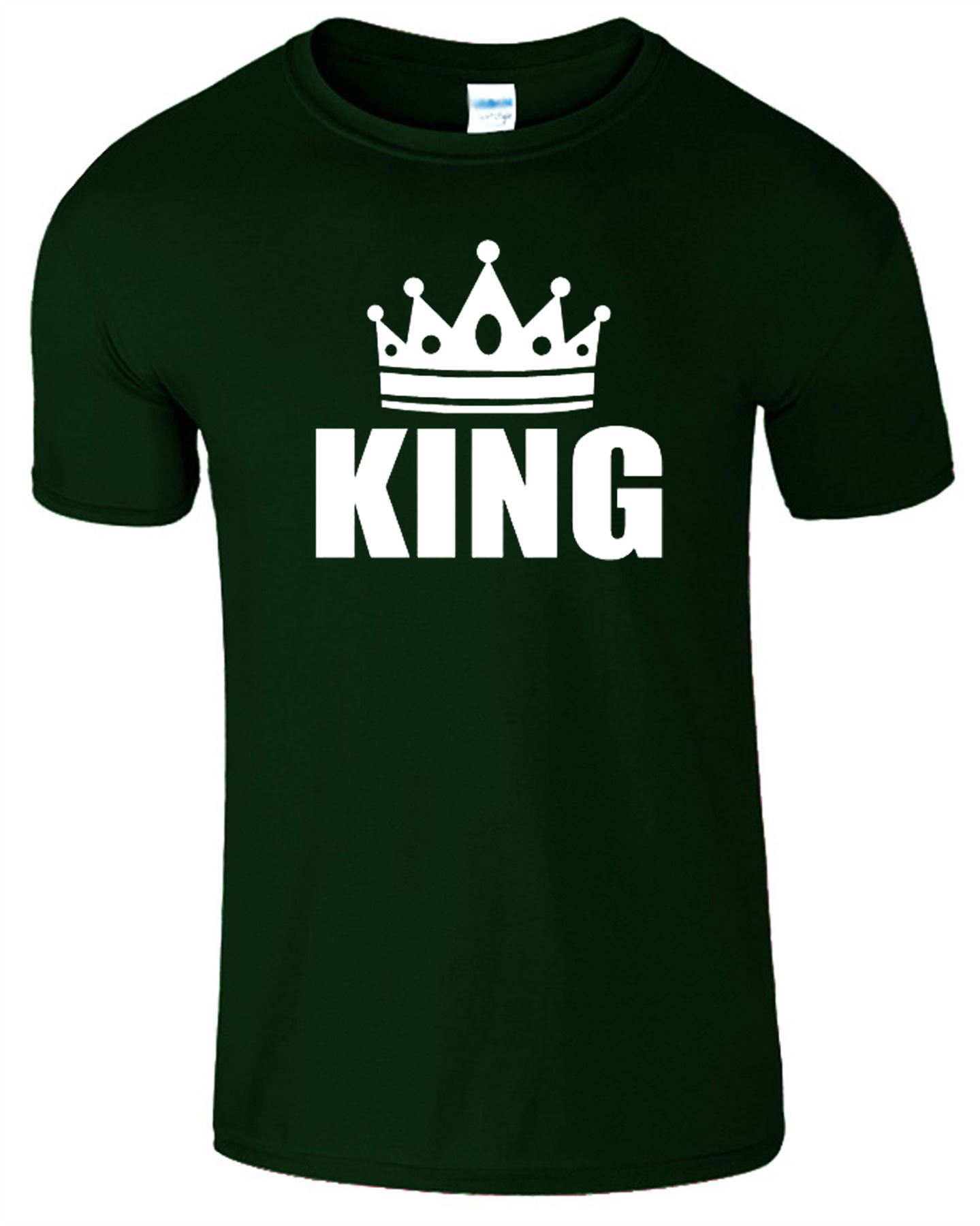 King and queen t shirt mens womens crown logo romantic for Logo t shirts online