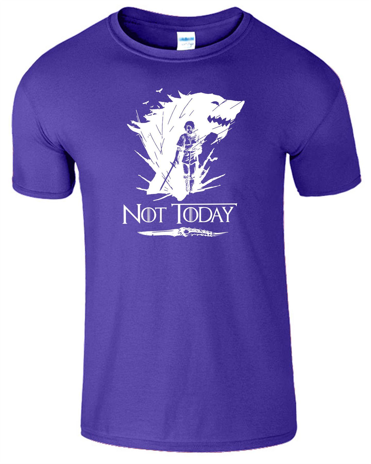 Arya-Stark-Not-Today-T-Shirt-Mens-Game-Season-Womens-Shirt-Adults-Unisex-Fit Indexbild 9