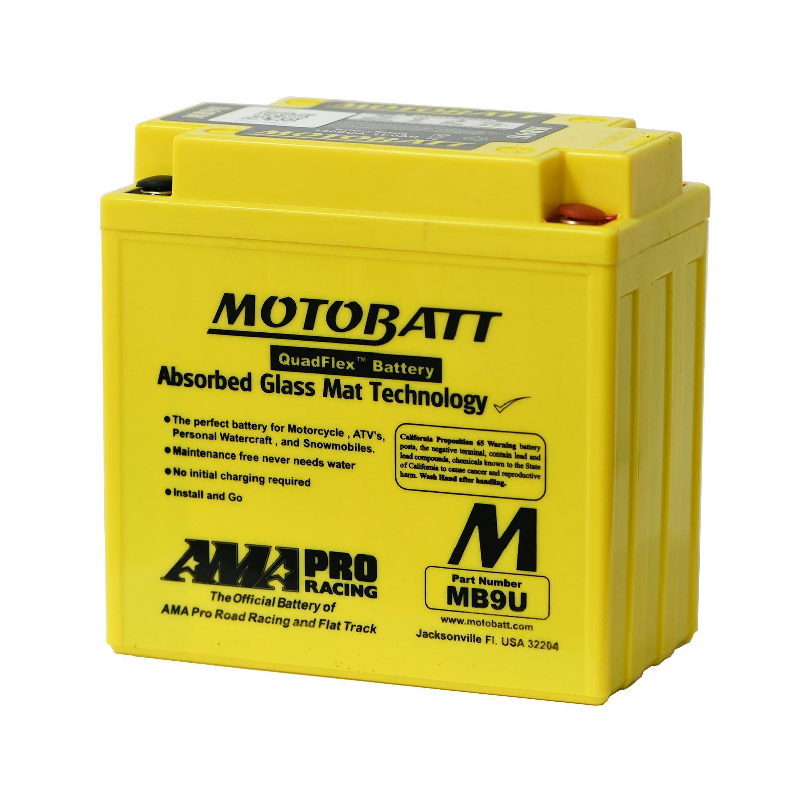 YB9A-A YB9-B YB9L-A2 Motobatt MB9U Battery Upgrades YB9-A