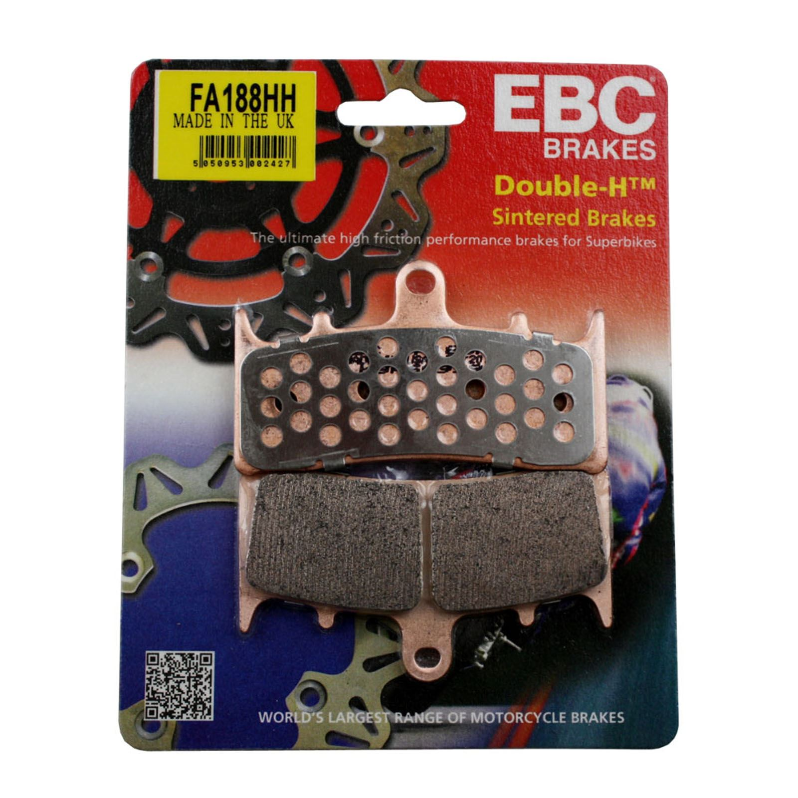 EBC Double-H Sintered Brake Pads FA188HH by EBC Brakes