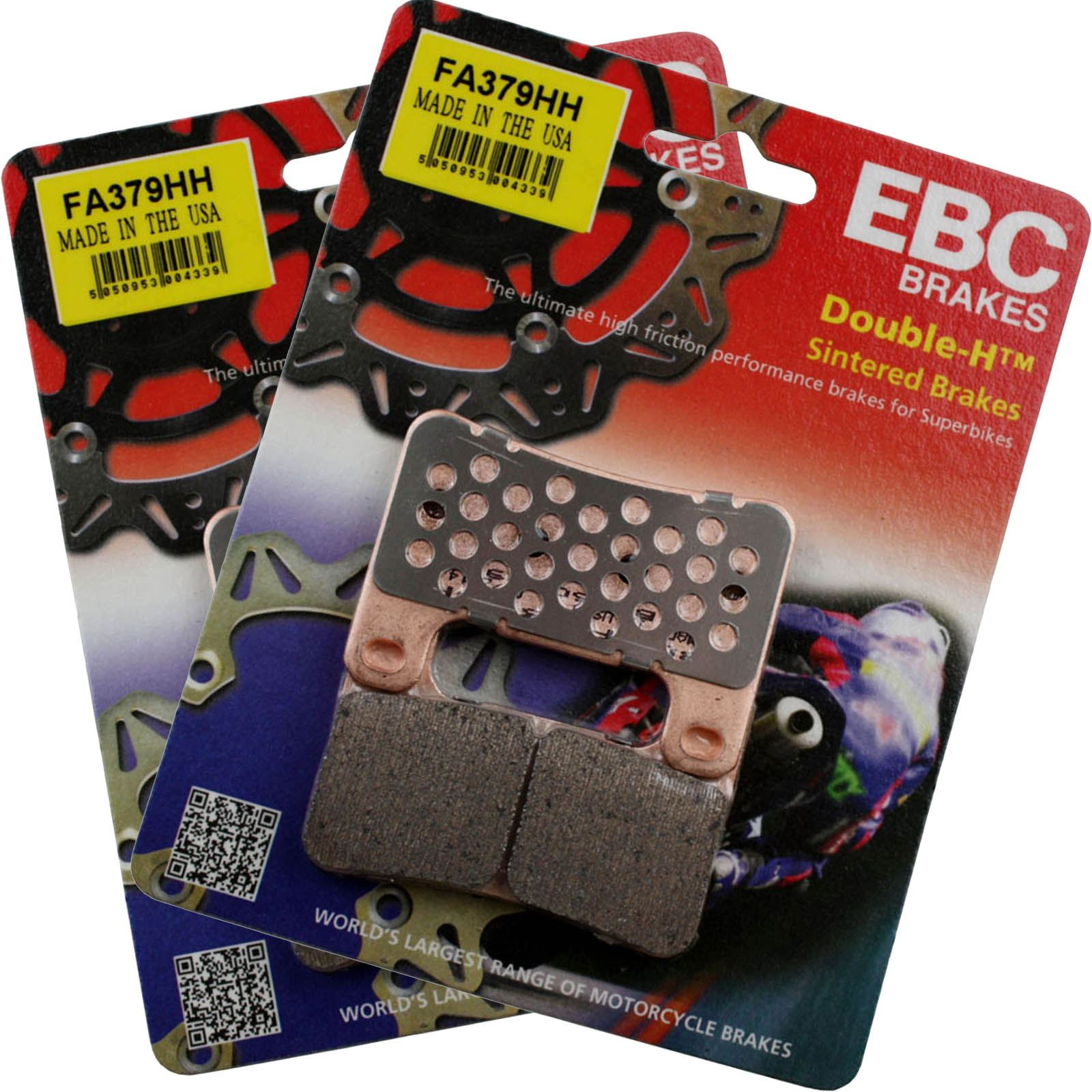 Sintered Double-H Front Brake Pads EBC FA379HH Select Motorcycle Models