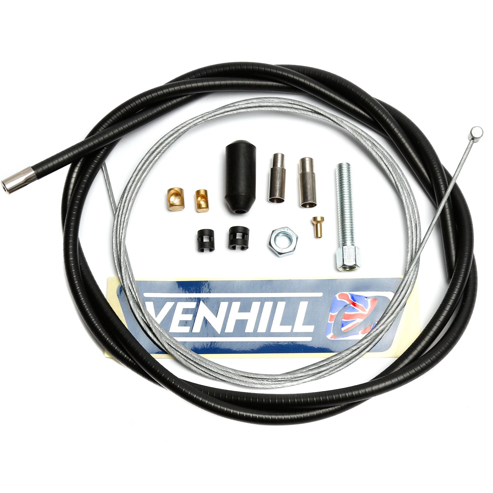 Venhill U01-1-100-BK Universal Motorcycle Clutch Cable Kit