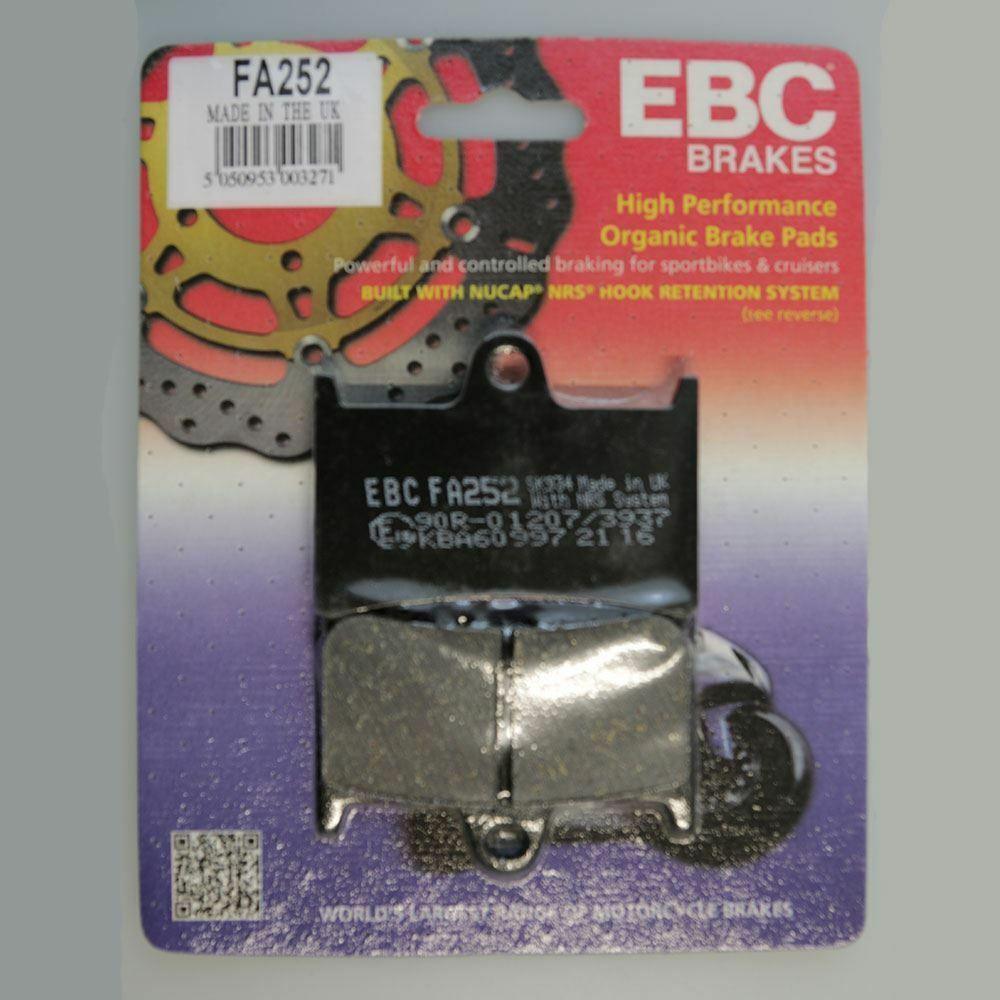 EBC Organic Front Brake Pads For Yamaha 2004 YZF-R6 FA252