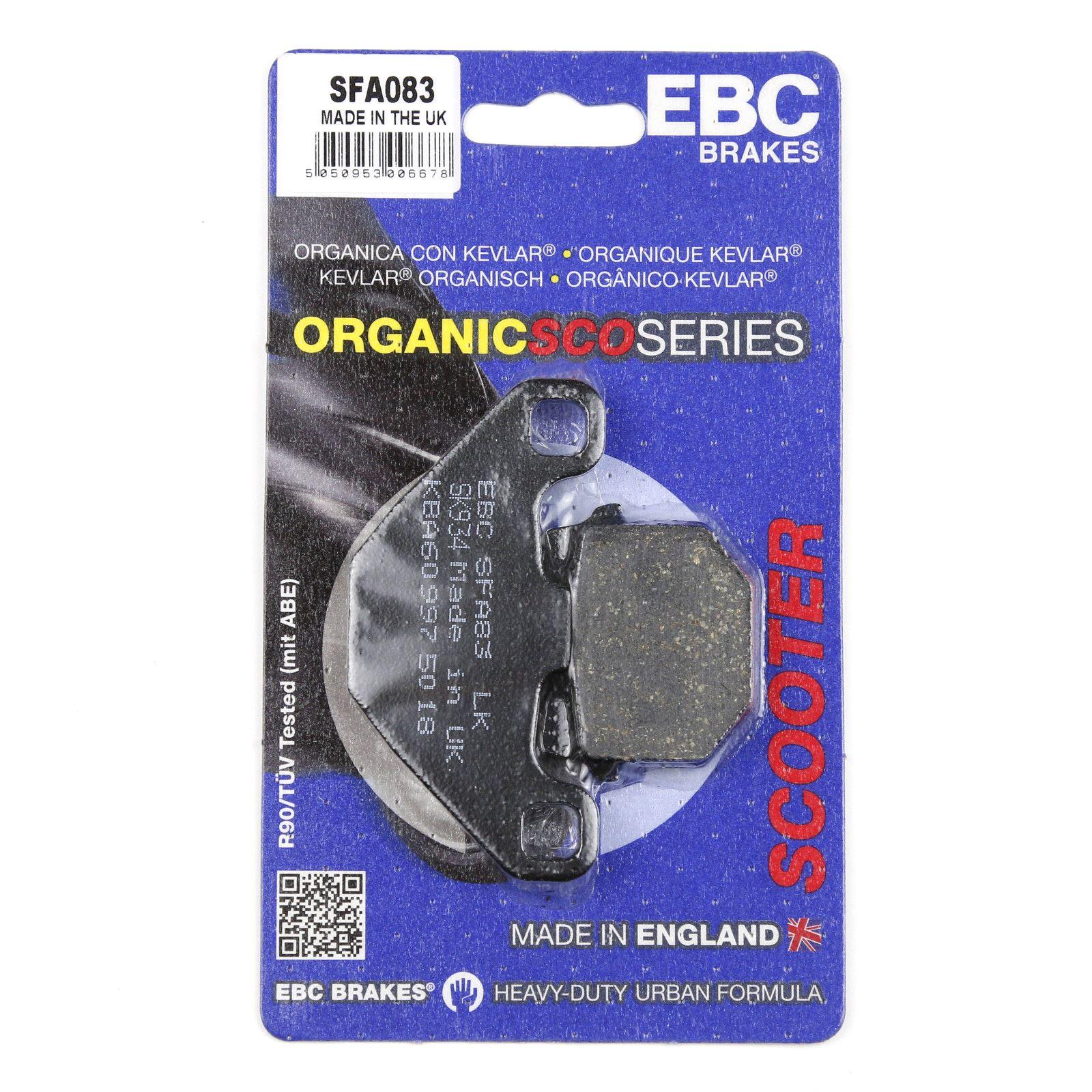 TGB R50 X Bullet 10-14 EBC Scooter Organic Rear Brake Pads SFA083