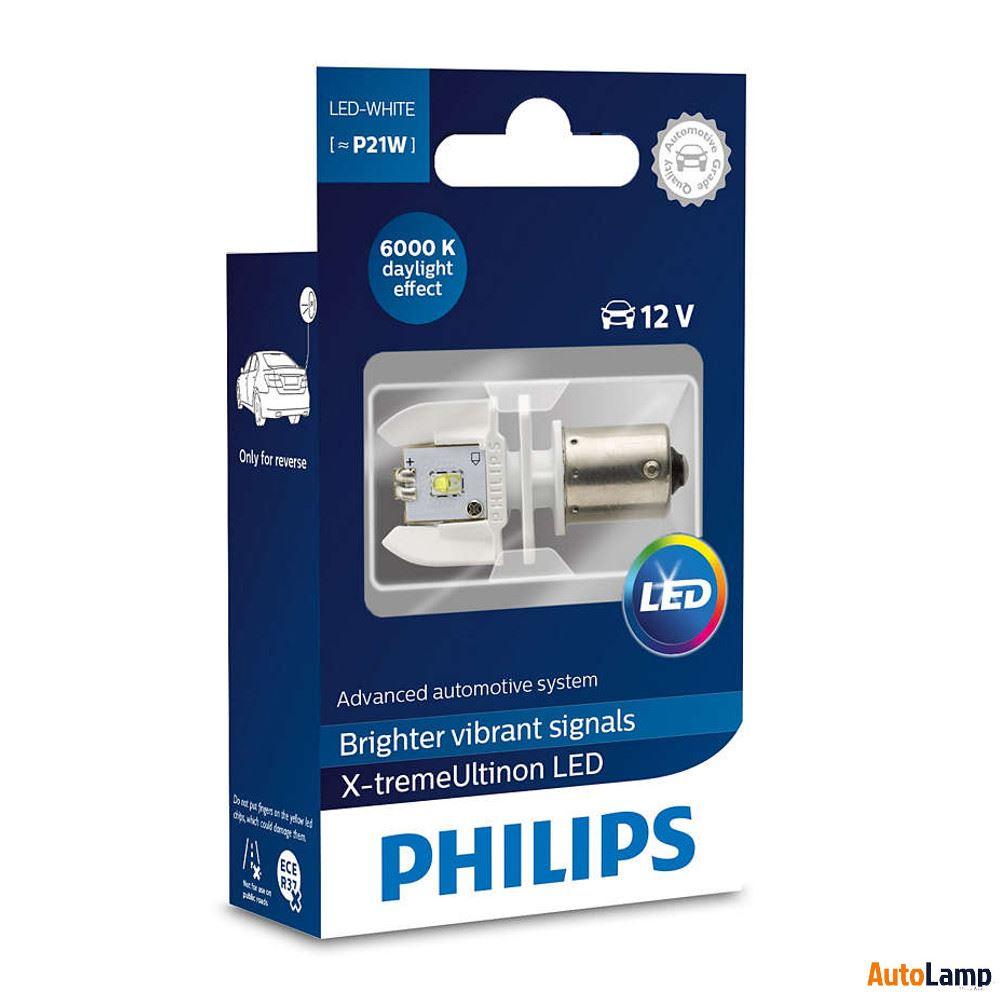 Philips Led X Arrière Ultinon 12898x1 P21w Blanc Treme Single 6000k SUpqzMV
