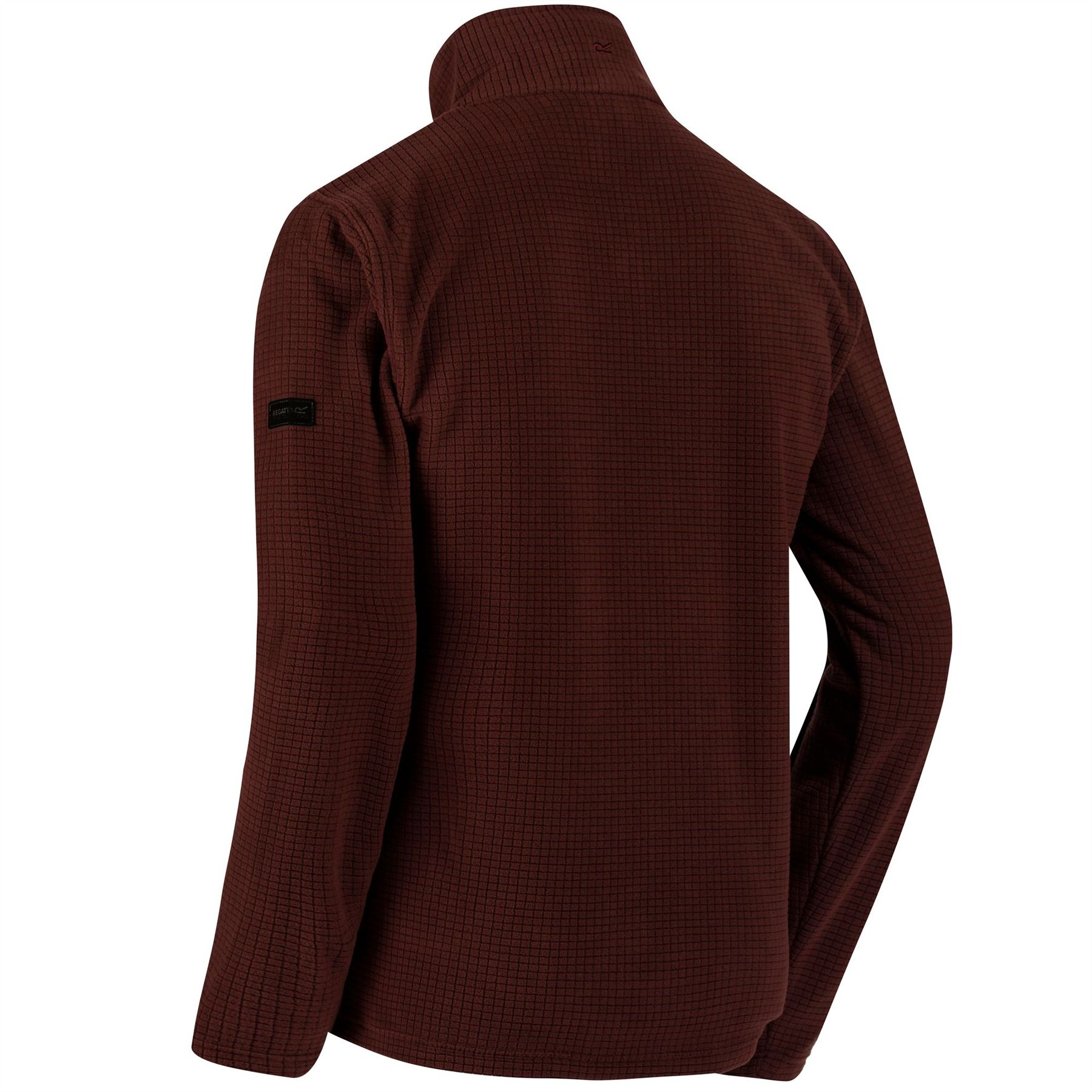 Regatta-Elgon-para-hombre-Half-Zip-Fleece-Pullover-Jumper-Top-RMA236 miniatura 3